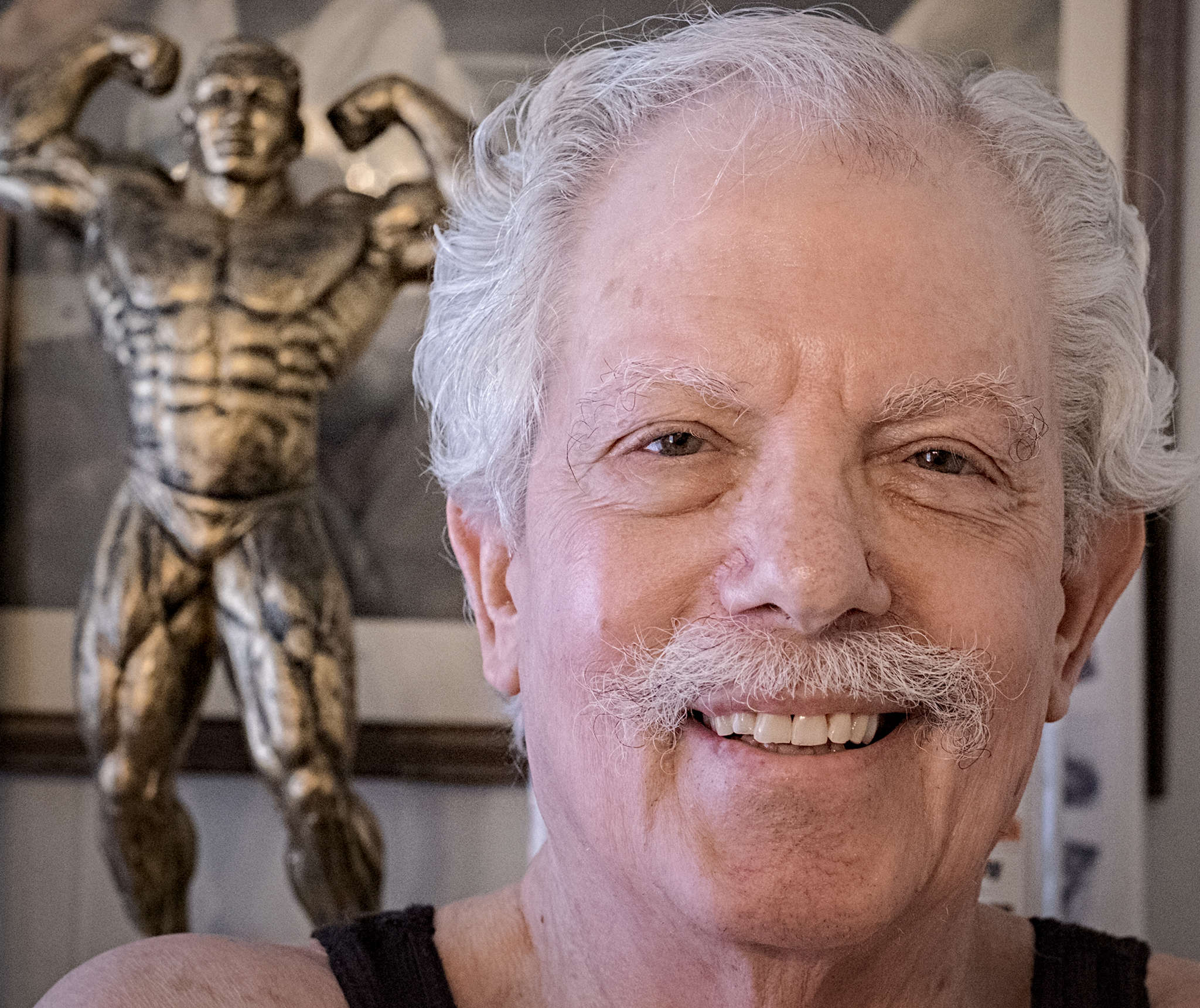 Manayunk strongman Mike Margolis is 74 and can still bend galvanized spikes with his bare hands.