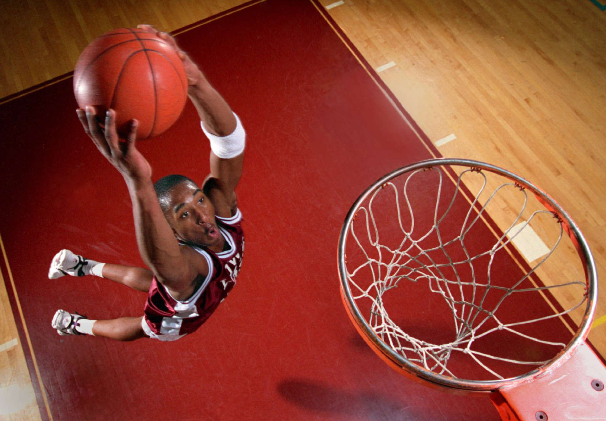 Kobe Bryant led Lower Merion to the PIAA Class AAAA championship in his senior season in 1996. Stories about his high school days abound, including a trash-talking incident that resulted in Bryant´s blocking the offender´s shot and launching the ball 40 feet into a jungle gym.