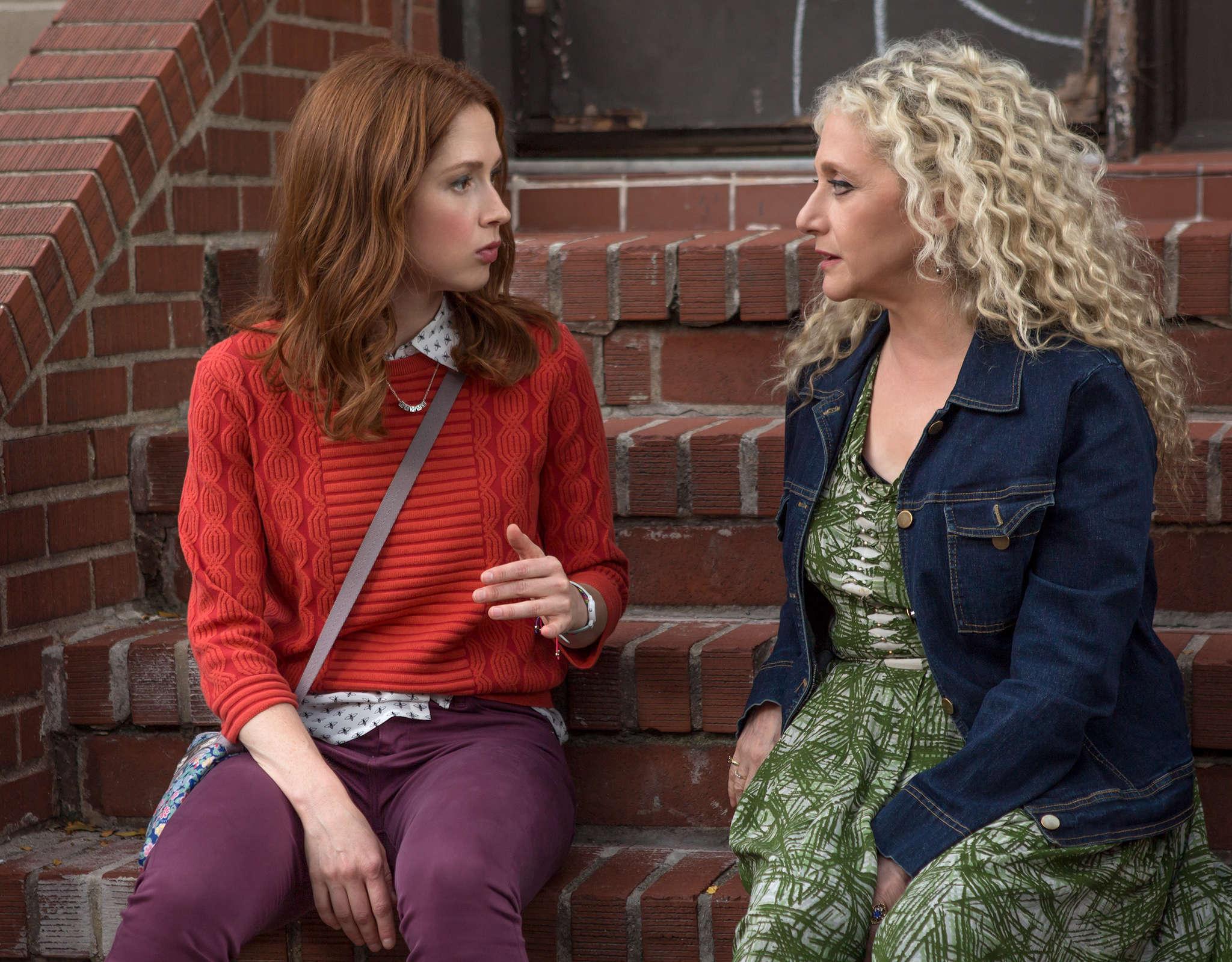 "Ellie Kemper (left) and Carol Kane in Season 2 of ""Unbreakable Kimmy Schmidt,"" premiering Friday on Netflix."