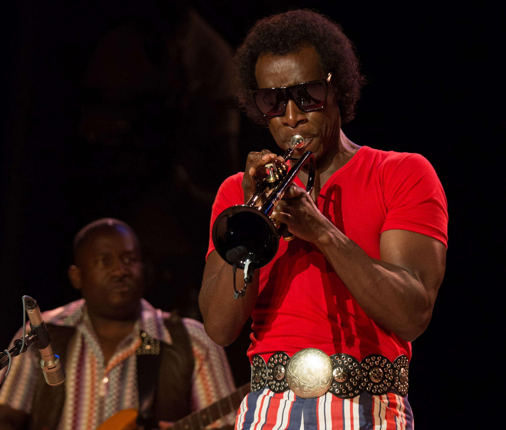 """Don Cheadle wrote and directed """"Miles Ahead"""" and learned to play the trumpet for his role as musician and composer Miles Davis.   BRIAN DOUGLAS / Sony Pictures Classics"""
