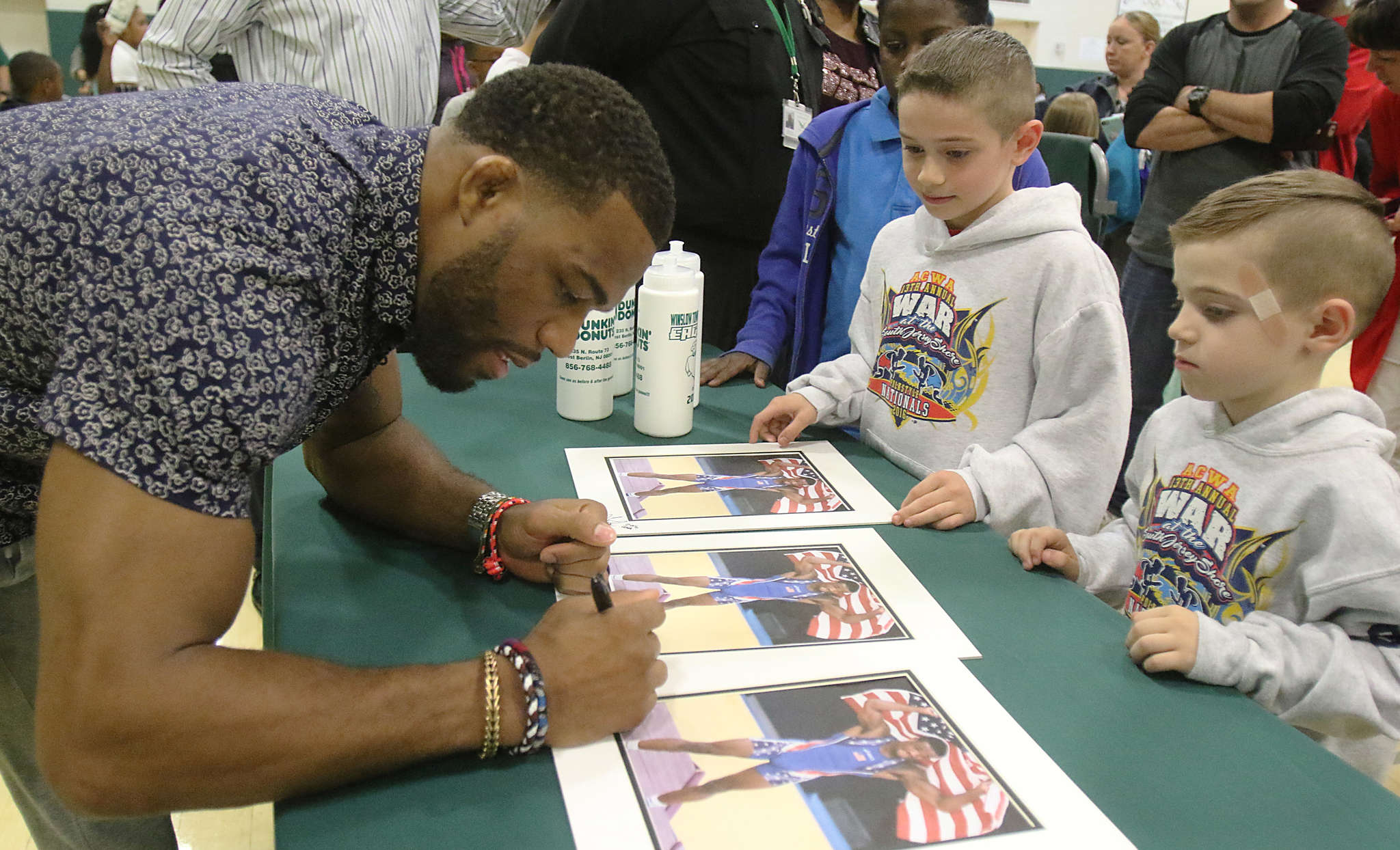 Jordan Burroughs was back at Winslow Township High to meet with fans. His record was 115-20 for the Eagles, but he is 124-2 against the world´s best, including an Olympic gold medal, since graduating from Nebraska.