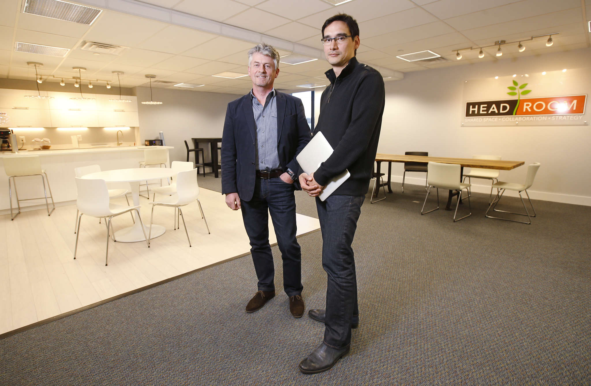 John Tooher and Dan Lievens (right) are the entrepreneurs behind the suburban shared-office space, with sites in Media and Wayne. Suburban clients are likely to be older, with different business needs, the pair say.