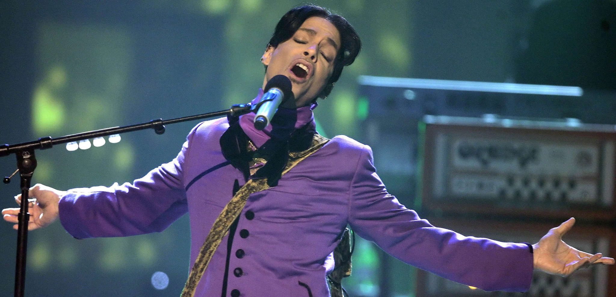 Prince performing at the sixth annual BET Awards in 2006 in Los Angeles.