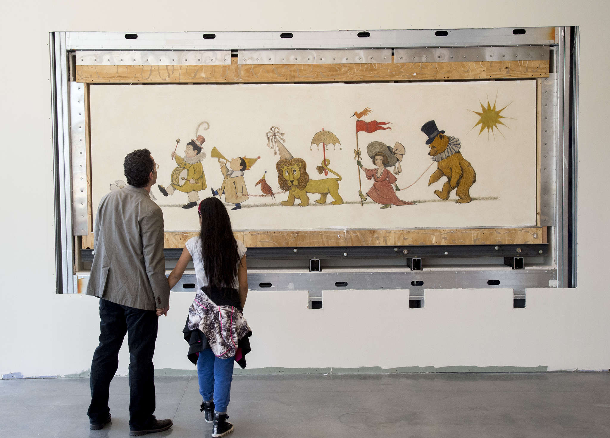 Maurice Sendak´s only known extant mural is at a new library at Broad and Morris Streets.