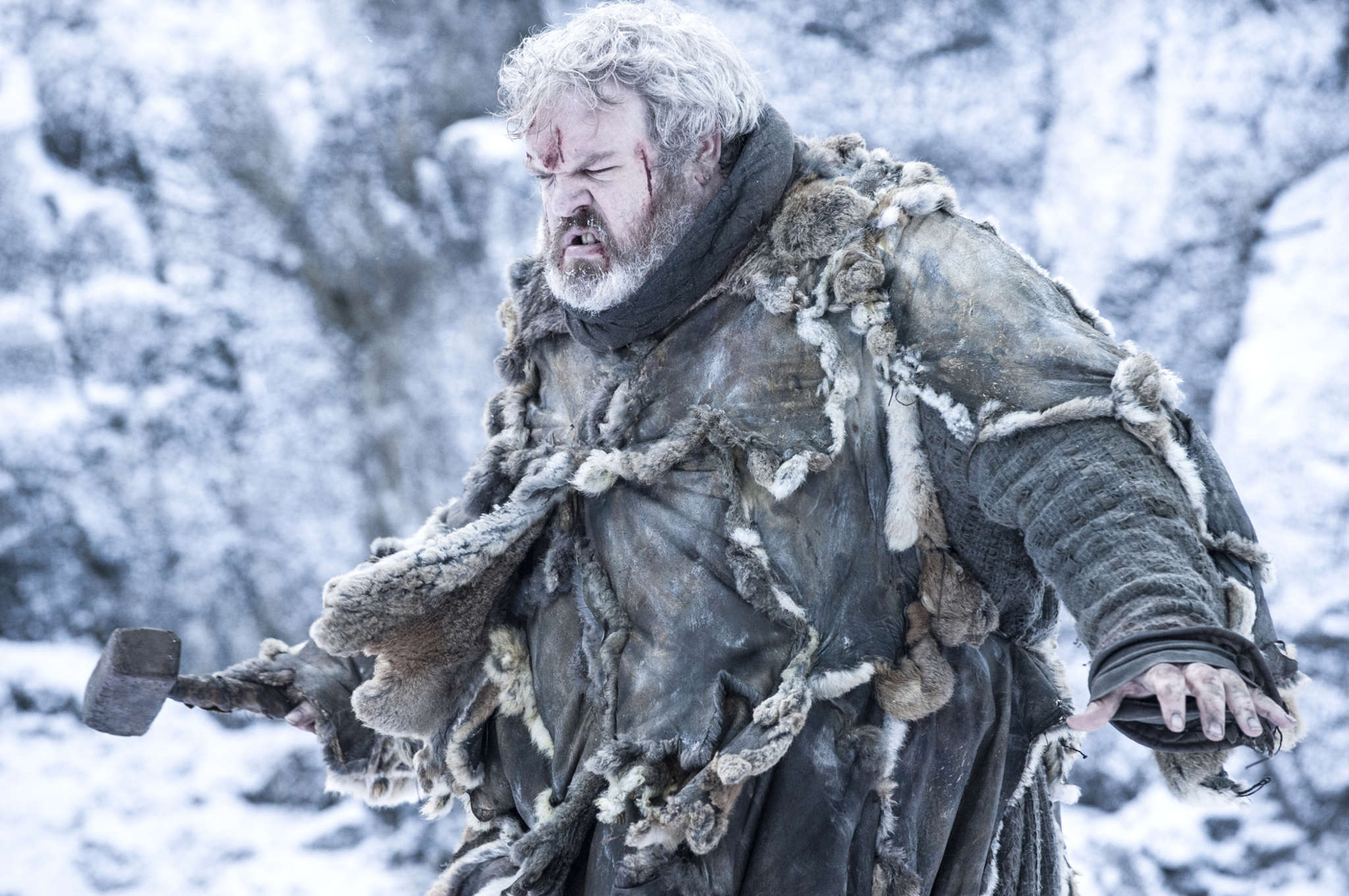 "Kristian Nairn as Hodor, ""a nice guy in a horrible universe."" The character (who says only ""Hodor!"") returns to ""Game of Thrones."""