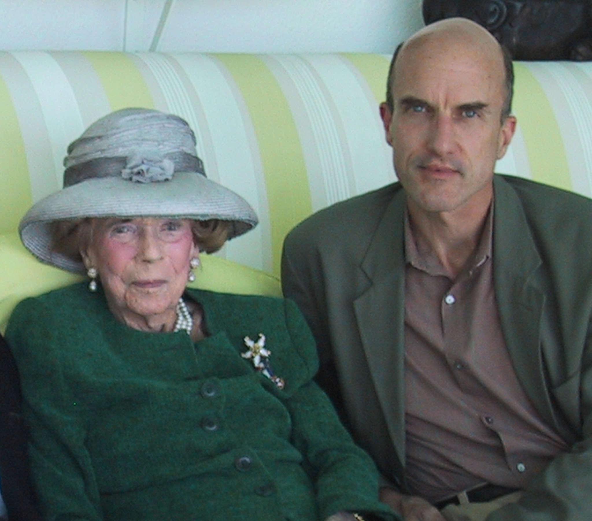 The late millionaire socialite Brooke Astor and grandson Philip Marshall.
