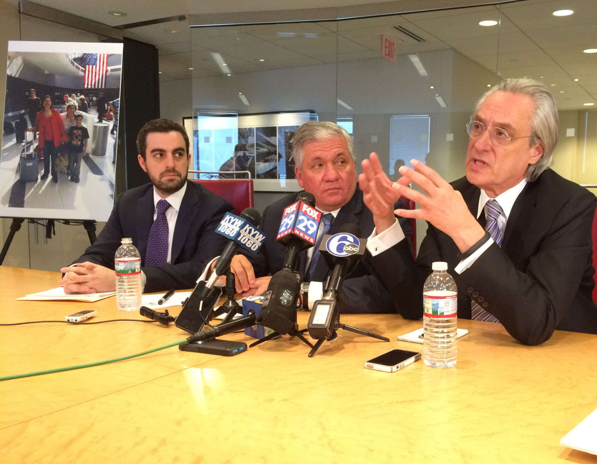 Lawyers involved in the Amtrak suits include (from left) Robert Zimmerman, Robert Mongeluzzi, and Tom Kline.