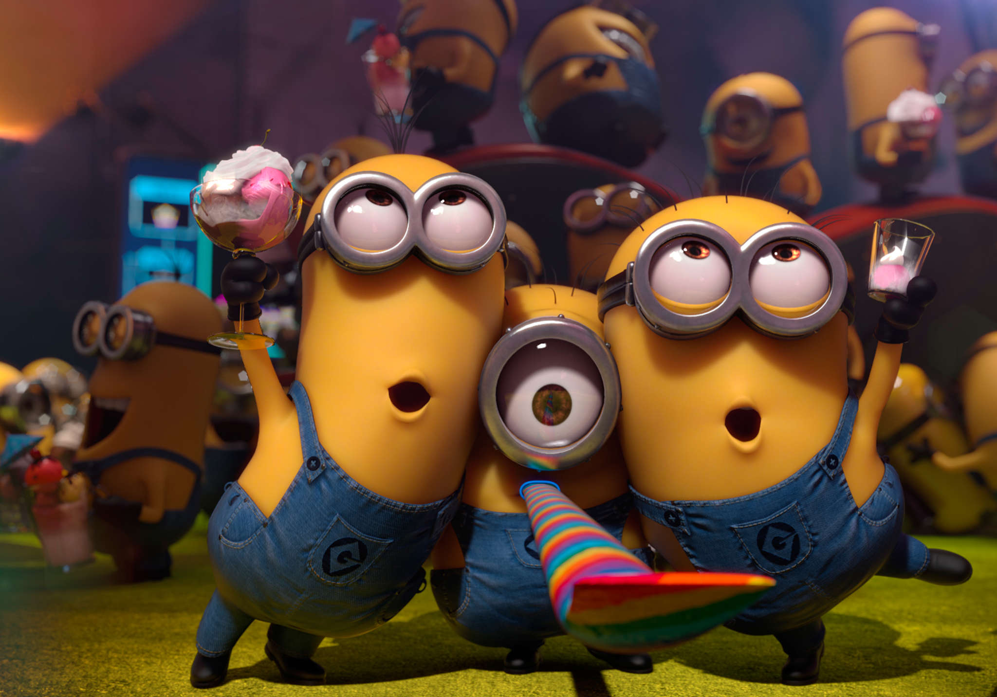 "The popular Minions from ""Despicable Me 2,"" whose creators are to be joined by the imaginative crew from DreamWorks Animation SKG."