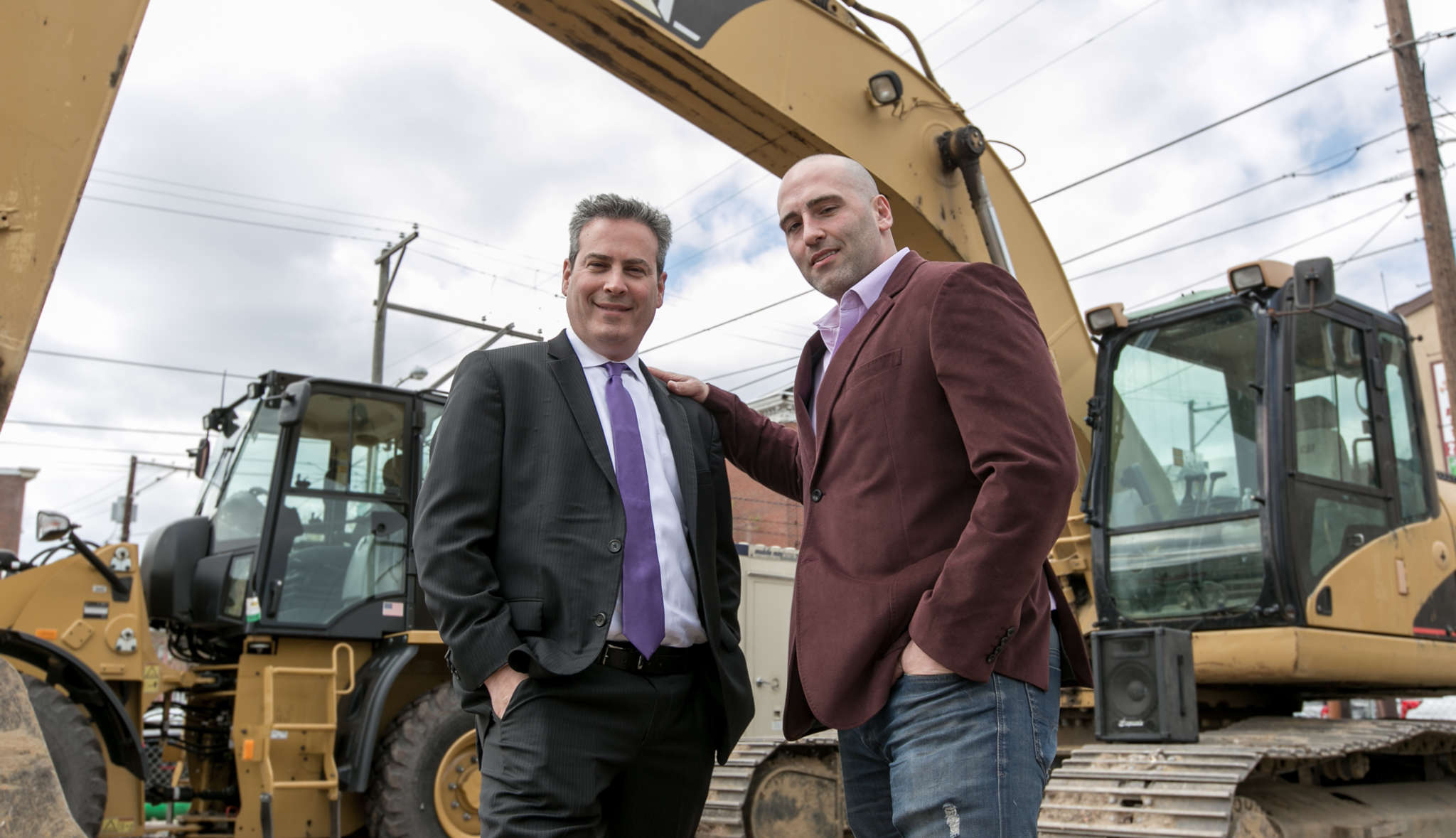 Sean Schellenger (right) and Sean Frankel, whose project includes the construction of 45 homes near Girard Avenue.