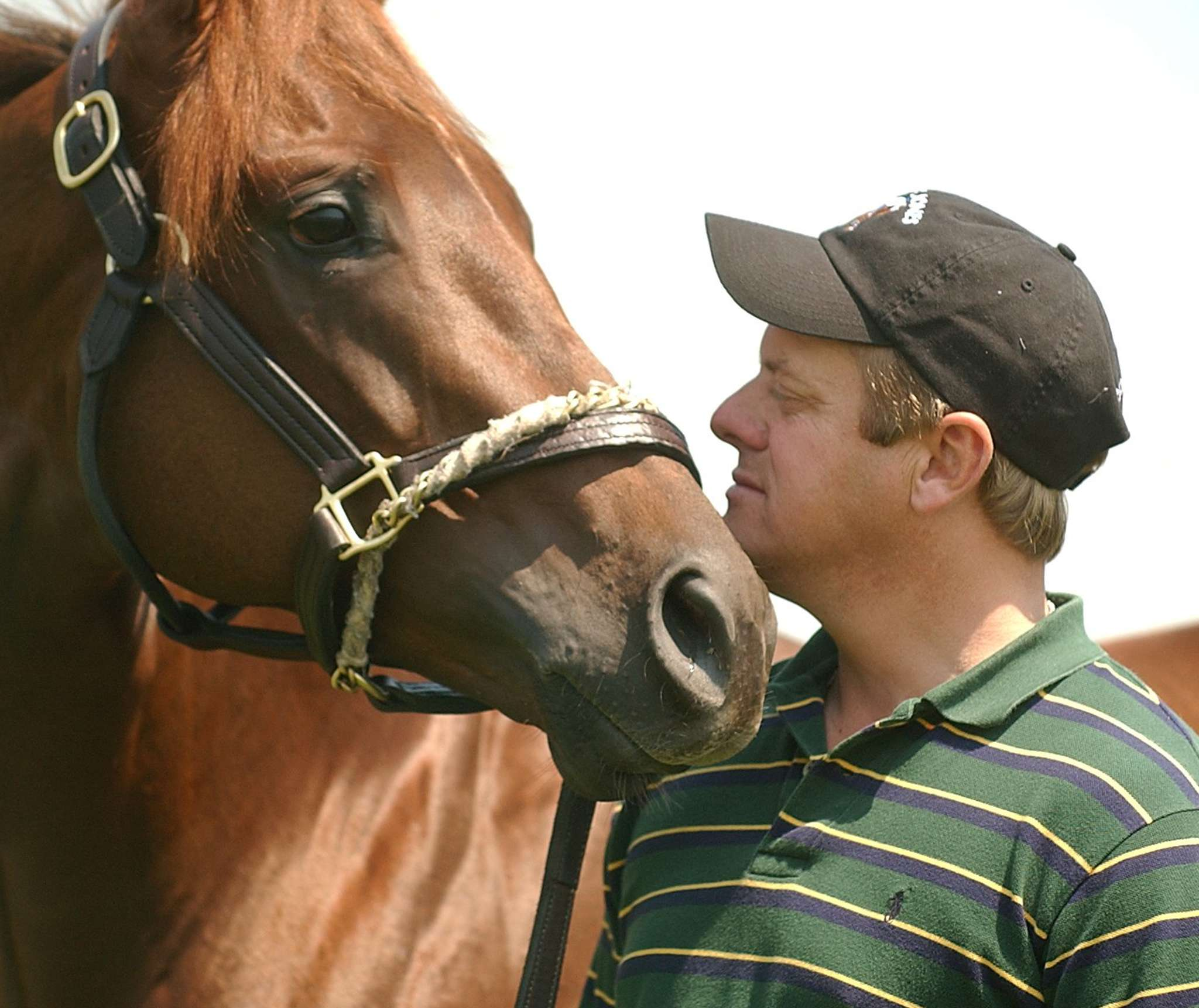 John Servis, with Smarty Jones in 2004, is the trainer for Cathryn Sophia, a filly who will run in Friday´s Kentucky Oaks. JOAN FAIRMAN KANES
