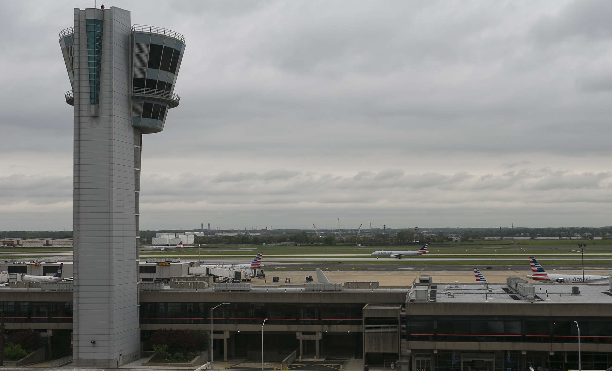 Two Philadelphia Airport runways are part of Tinicum Township. An airport expansion is planned.