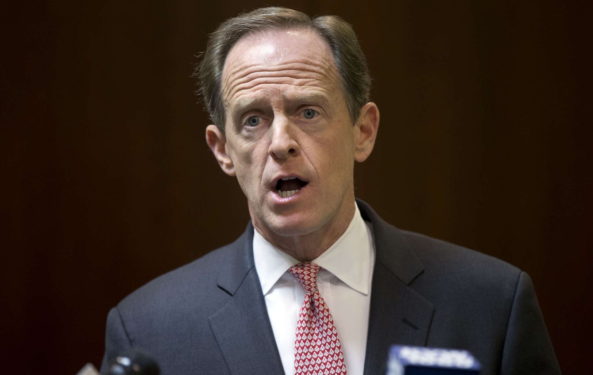 Sen. Pat Toomey, facing a reelection bid, seems to be taking a wait-and-see stance on Donald Trump.