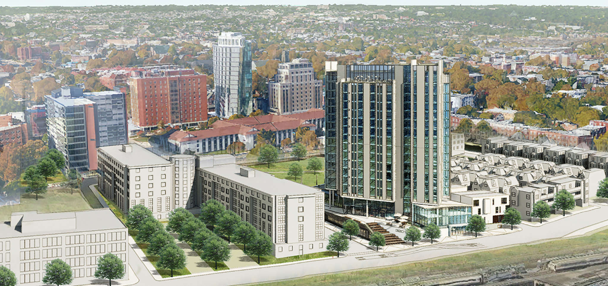 Groundbreaking is scheduled for Wednesday for the $56 million mixed-use project at 3201 Race St. by Radnor Property Group. The project includes office space and a preschool.