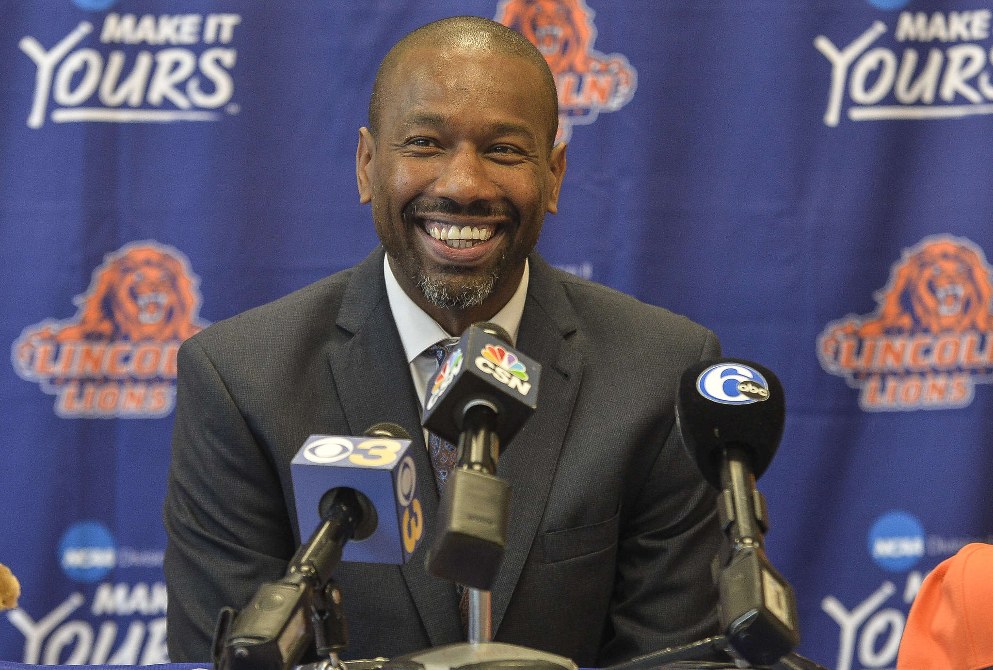 Doug Overton is eager to teach his young players at Lincoln University. CHARLES MOSTOLLER