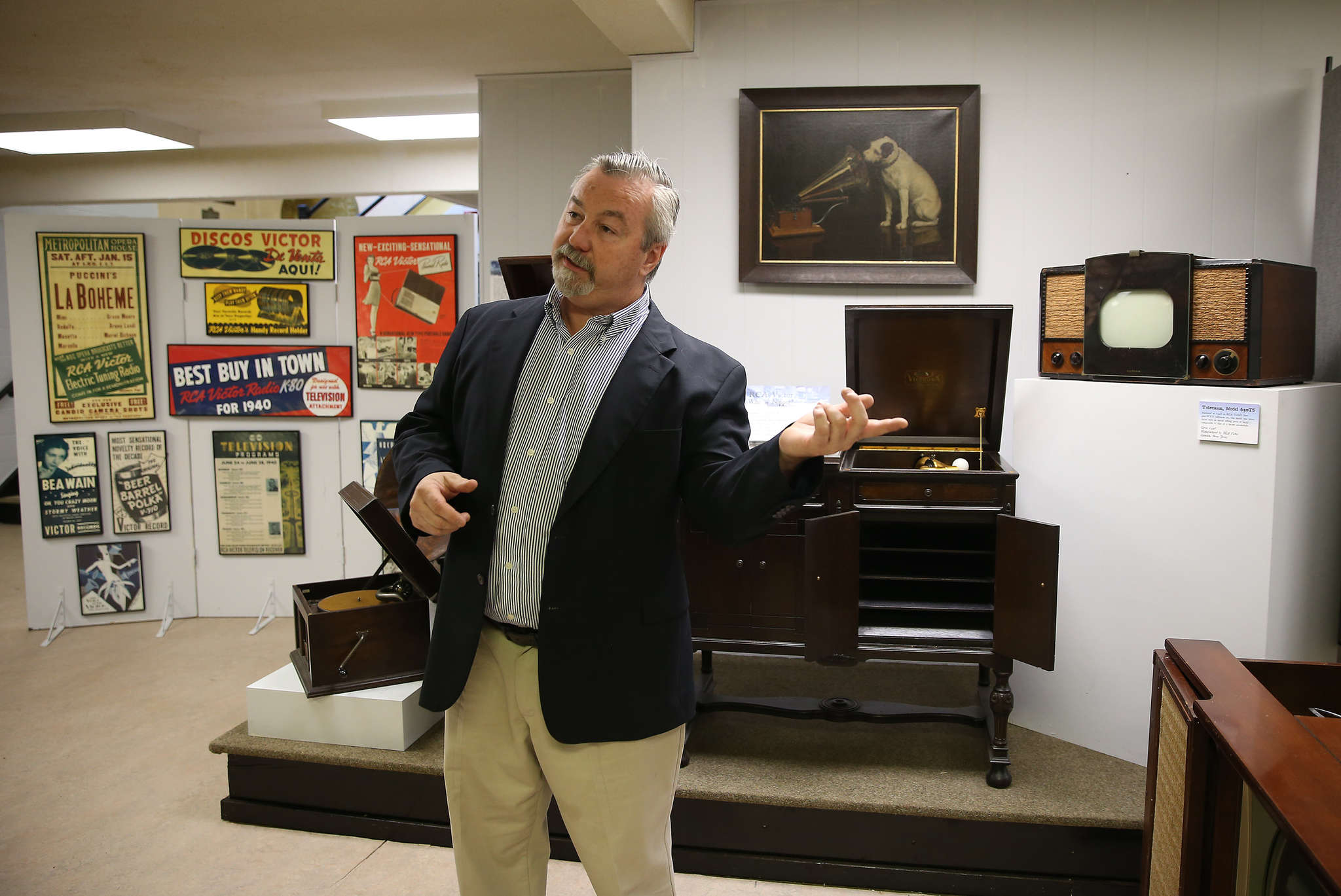 "Jack O´Byrne, executive director of the Camden County Historical Society, talks about the recently restored museum space. ""We´re giving people a reason to take a fresh look at what we´re doing here,"" he said."