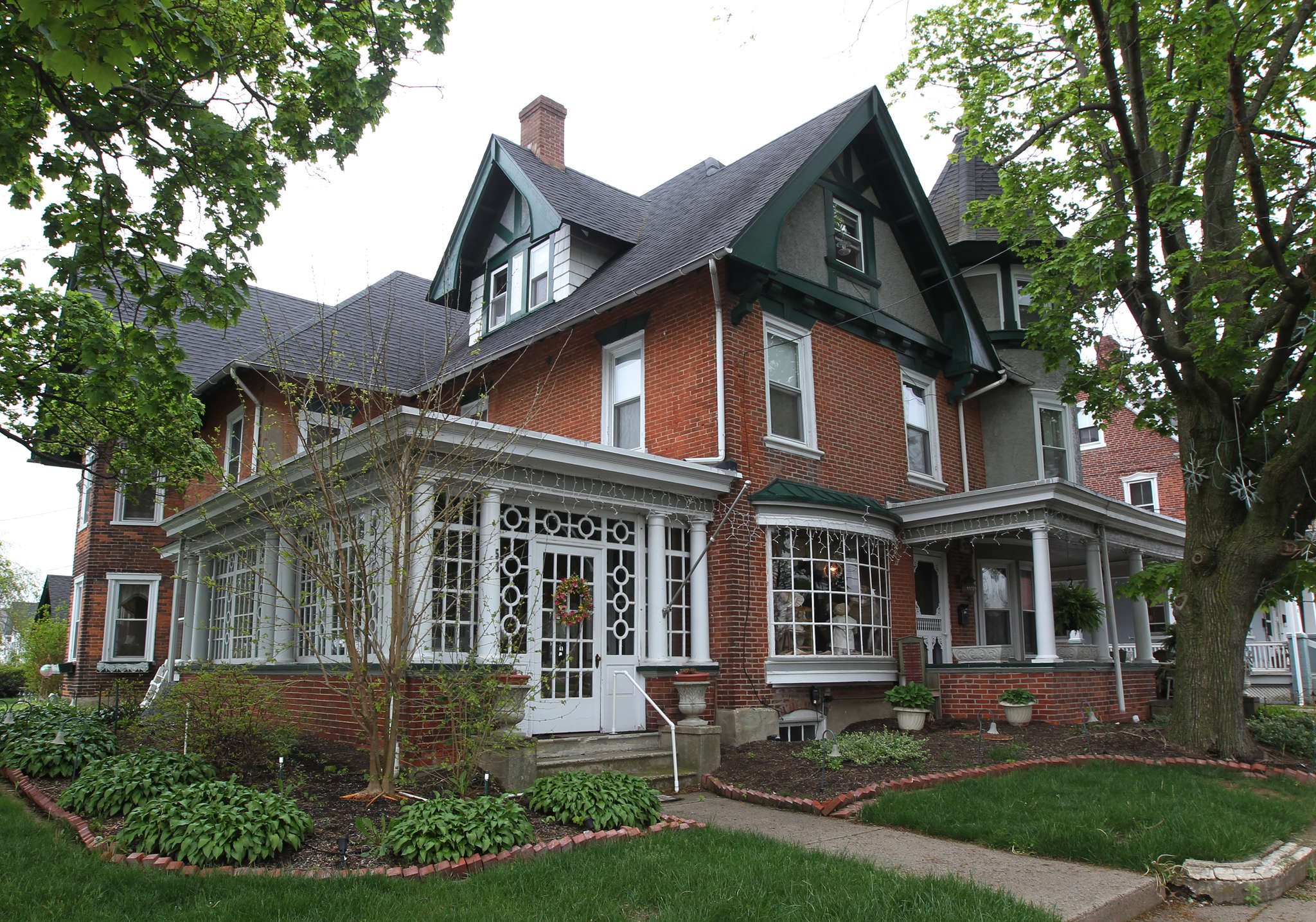 The Fenstermacher home at Broad and Main. It becomes a Victorian boutique twice a year.