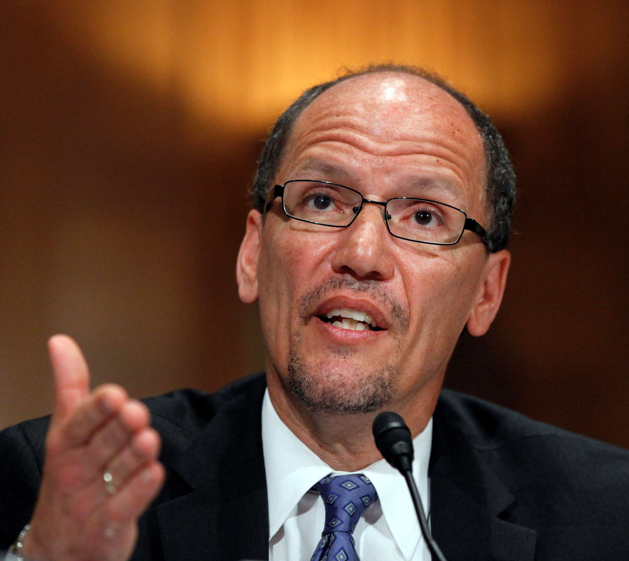 Labor Secretary Thomas Perez met with both sides. AP