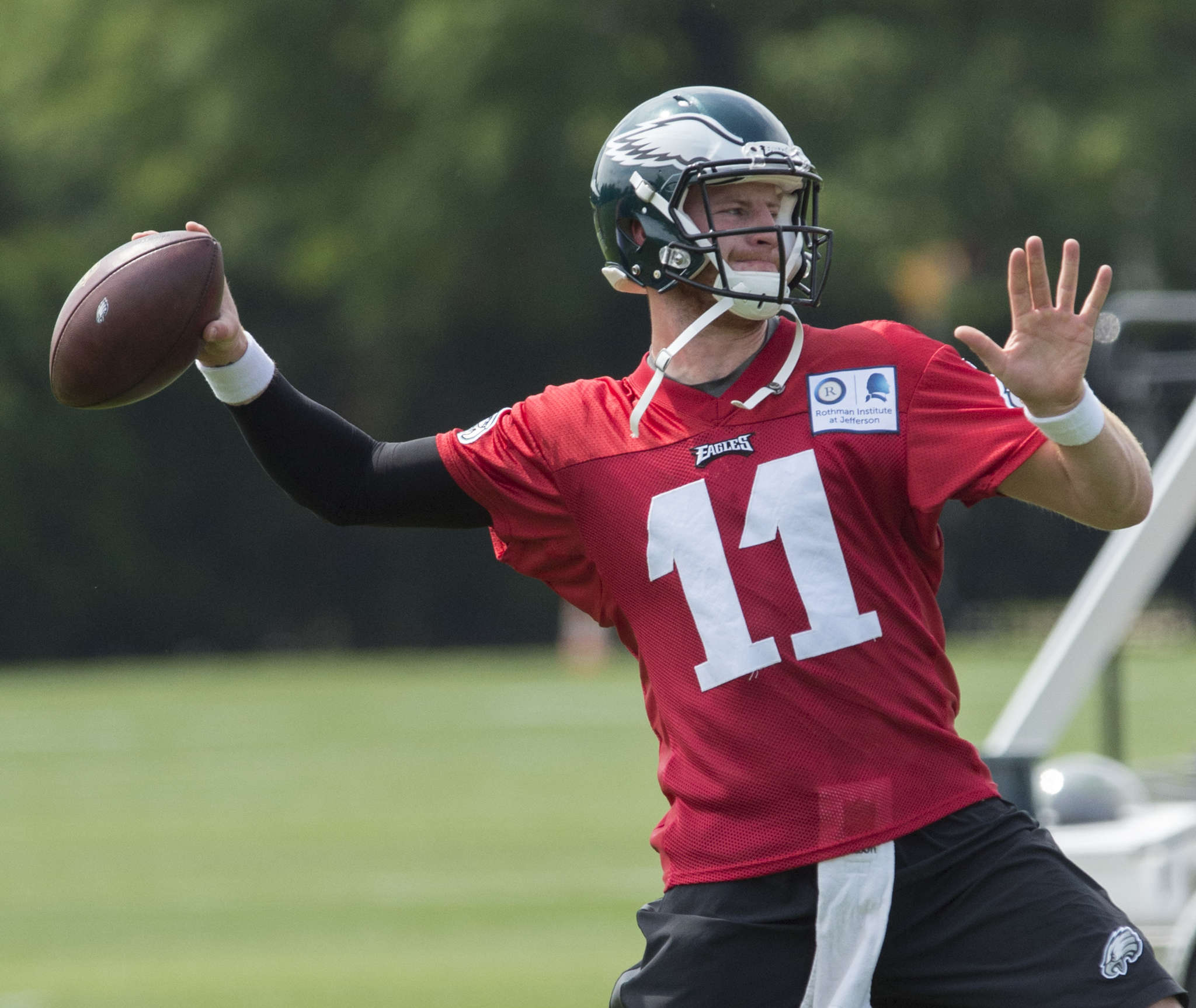 Carson Wentz will not be rushed into action the way other high-profile draft picks have been.