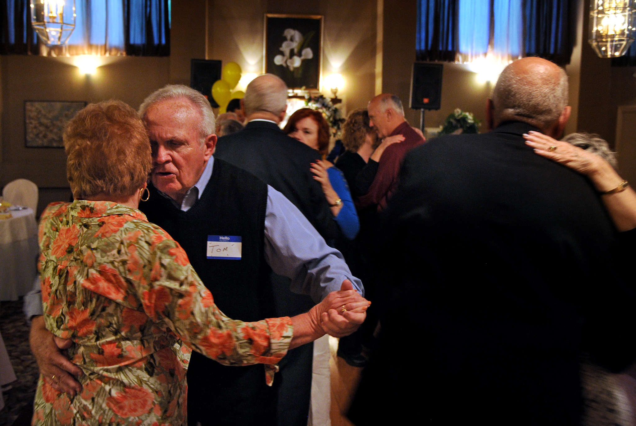 """We´re social butterflies,"" says Harriet Shikes of Blackwood (left), dancing with Tom Cusack of Mount Laurel. Shikes joined the club in 2000, after a divorce."