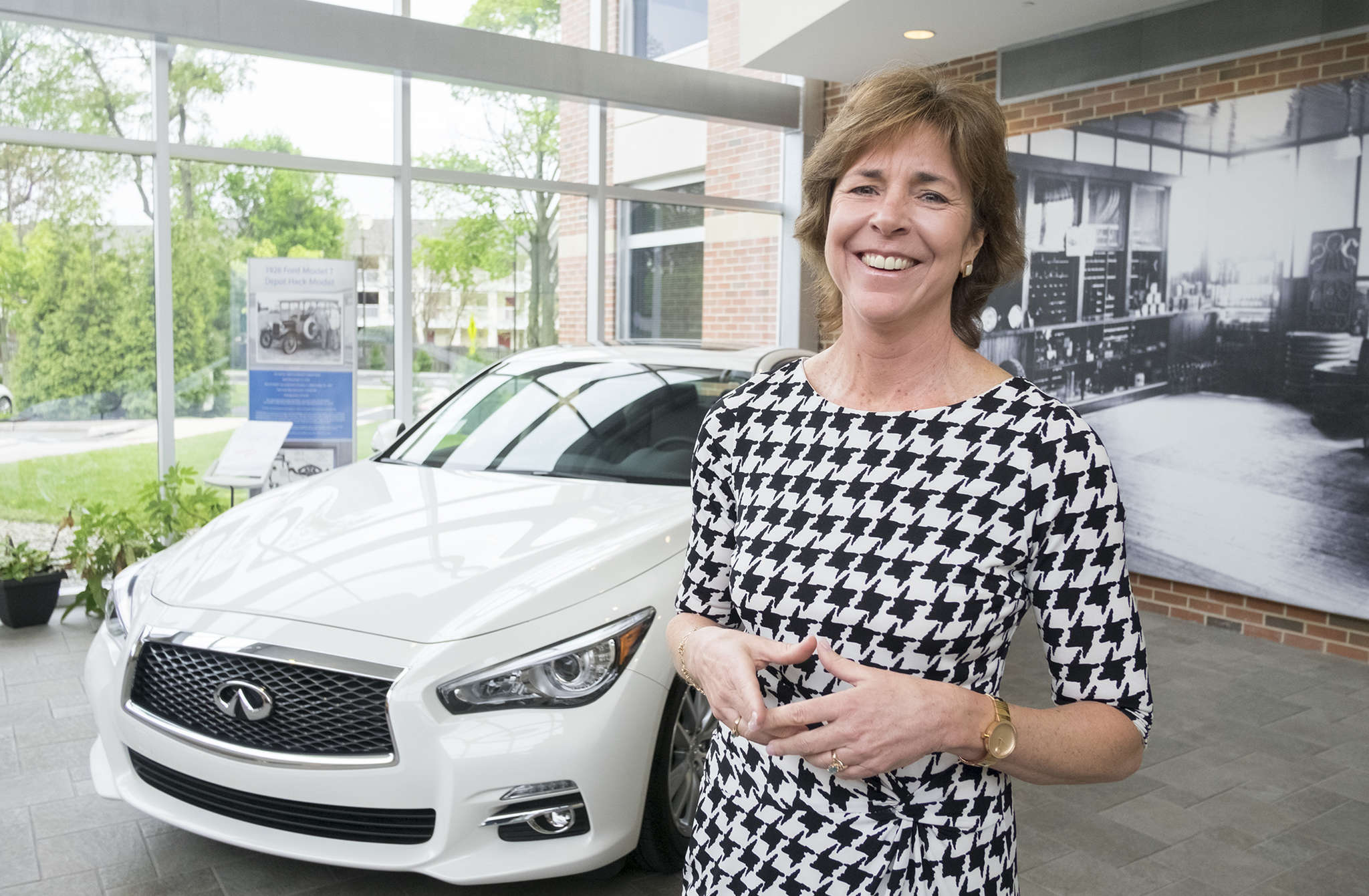 "Melinda ""Mindy"" Holman is considering buying her first car. Seriously. She gets to drive the demos. ""It would be a smart experiment to understand what our customers go through."""