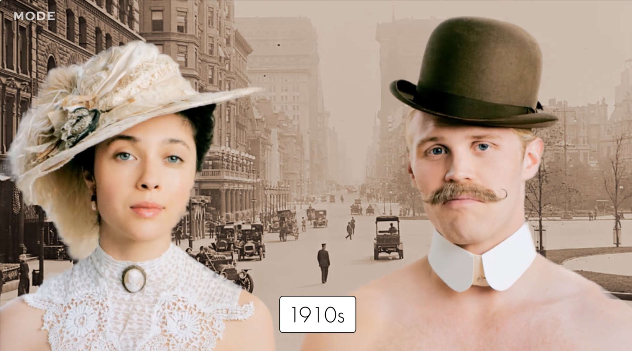 """The short video """"100 Years of Fashion: Hats"""" shows trends from 10 decades. Mode Studios has created 18 videos, on such topics as cars, nails, cocktails, wedding dresses."""