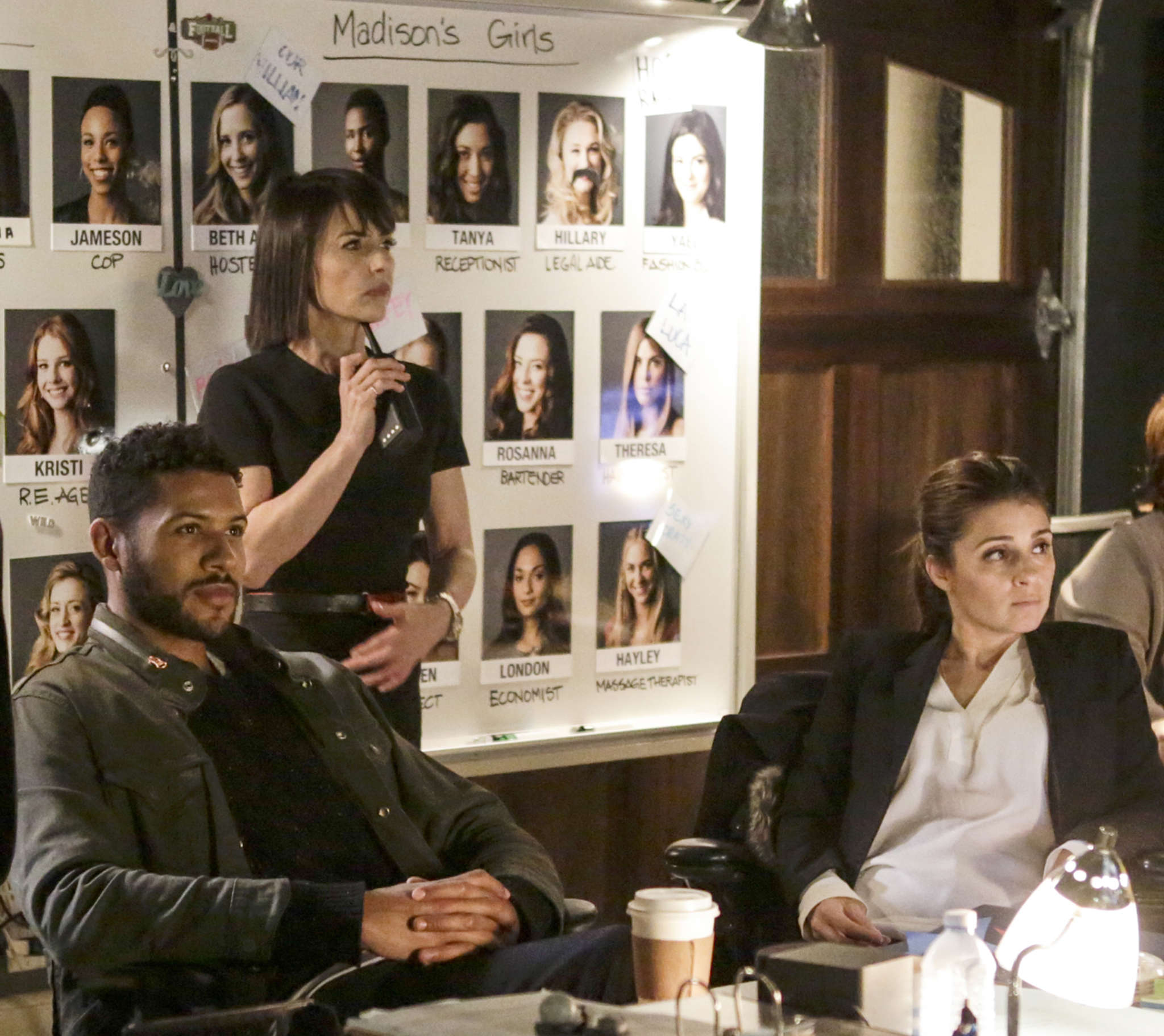"""What would real people do?: (from left) Jeffrey Bowyer-Chapman, Constance Zimmer, and Shiri Appleby in """"UnReal,"""" an unsettling behind-the-scenes look at reality television."""
