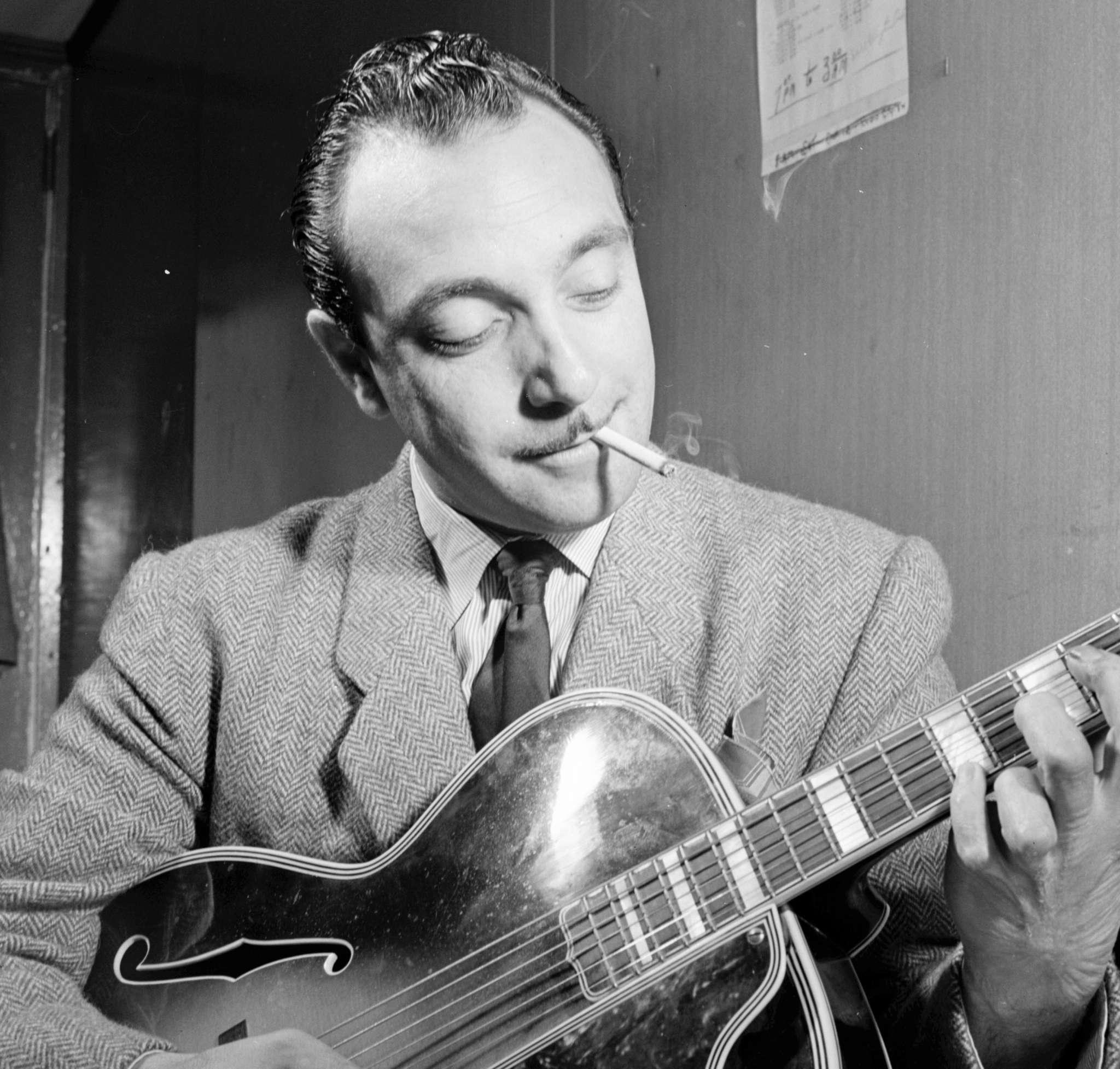 Django Reinhardt , jazz guitarist. William P. Gottlieb Collection, Library of Congress