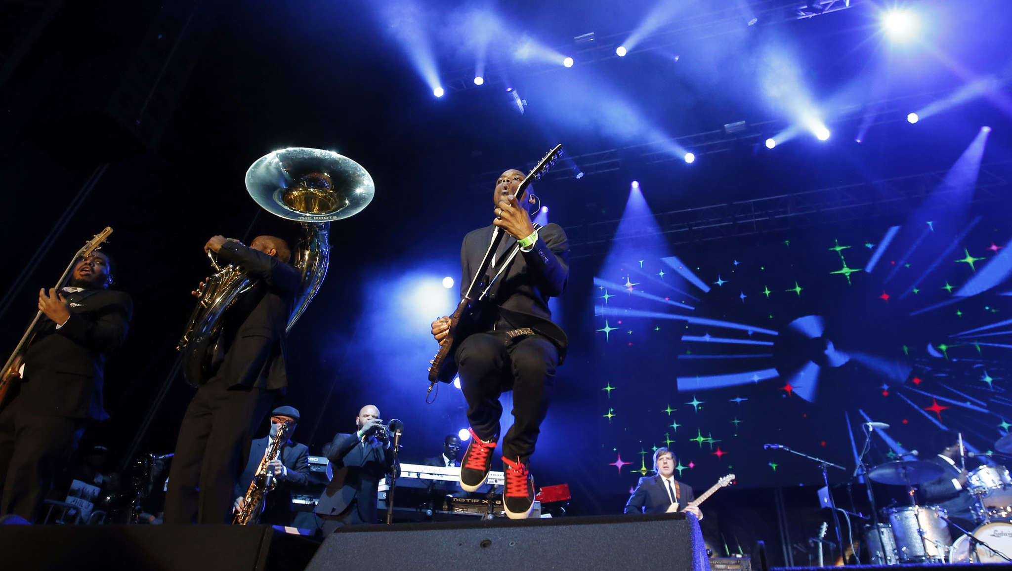 The Roots dressed in jackets and ties for their only scheduled Philadelphia performance this summer. They are not on the Wawa Welcome America! bill on July Fourth for the first time since 2008.