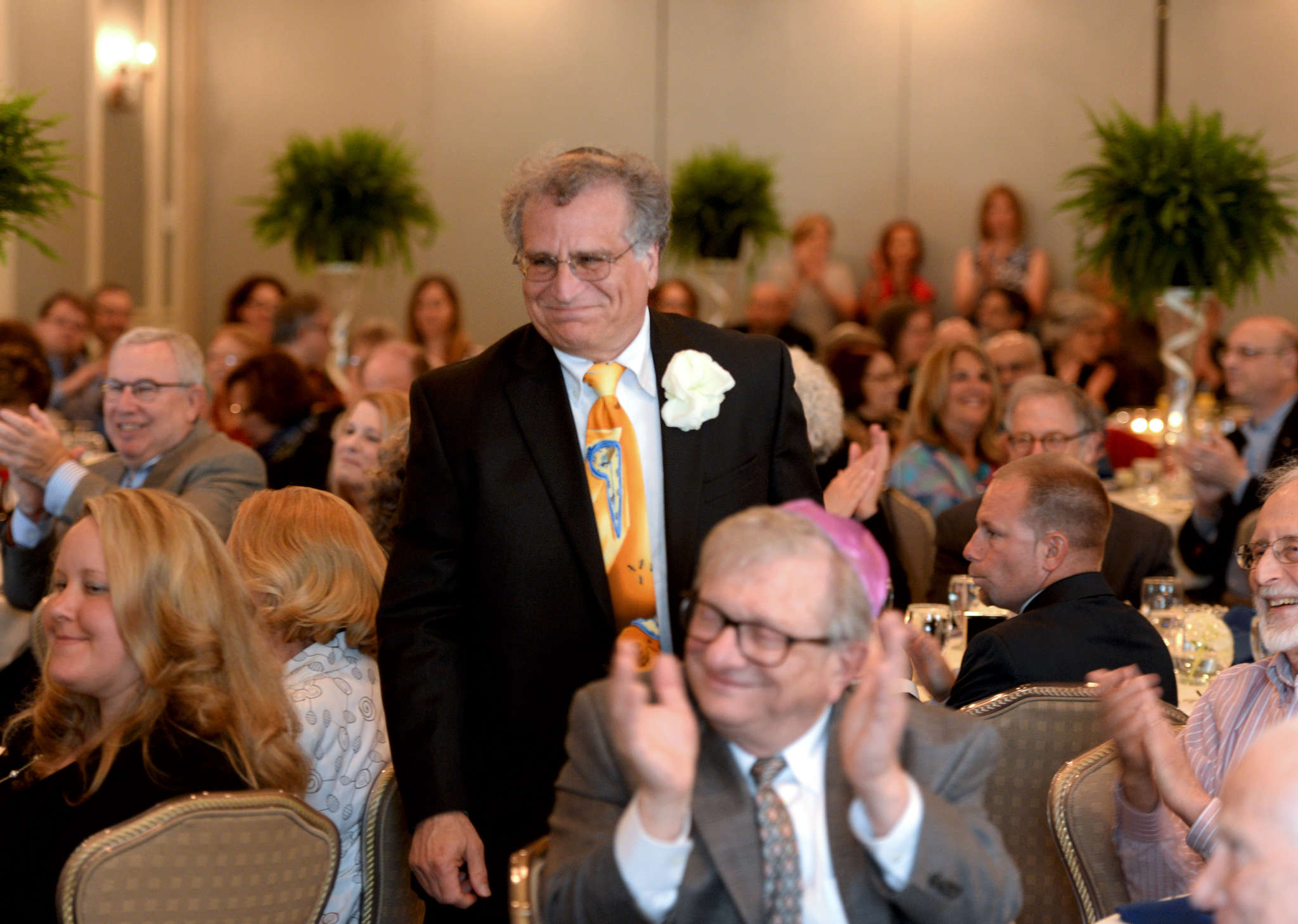 Rabbi Gary Gans, who will retire Aug. 1, attends the brunch his Marlton congregation hosted. He will serve as rabbi emeritus at Congregation Beth Tikvah for two years after his retirement.