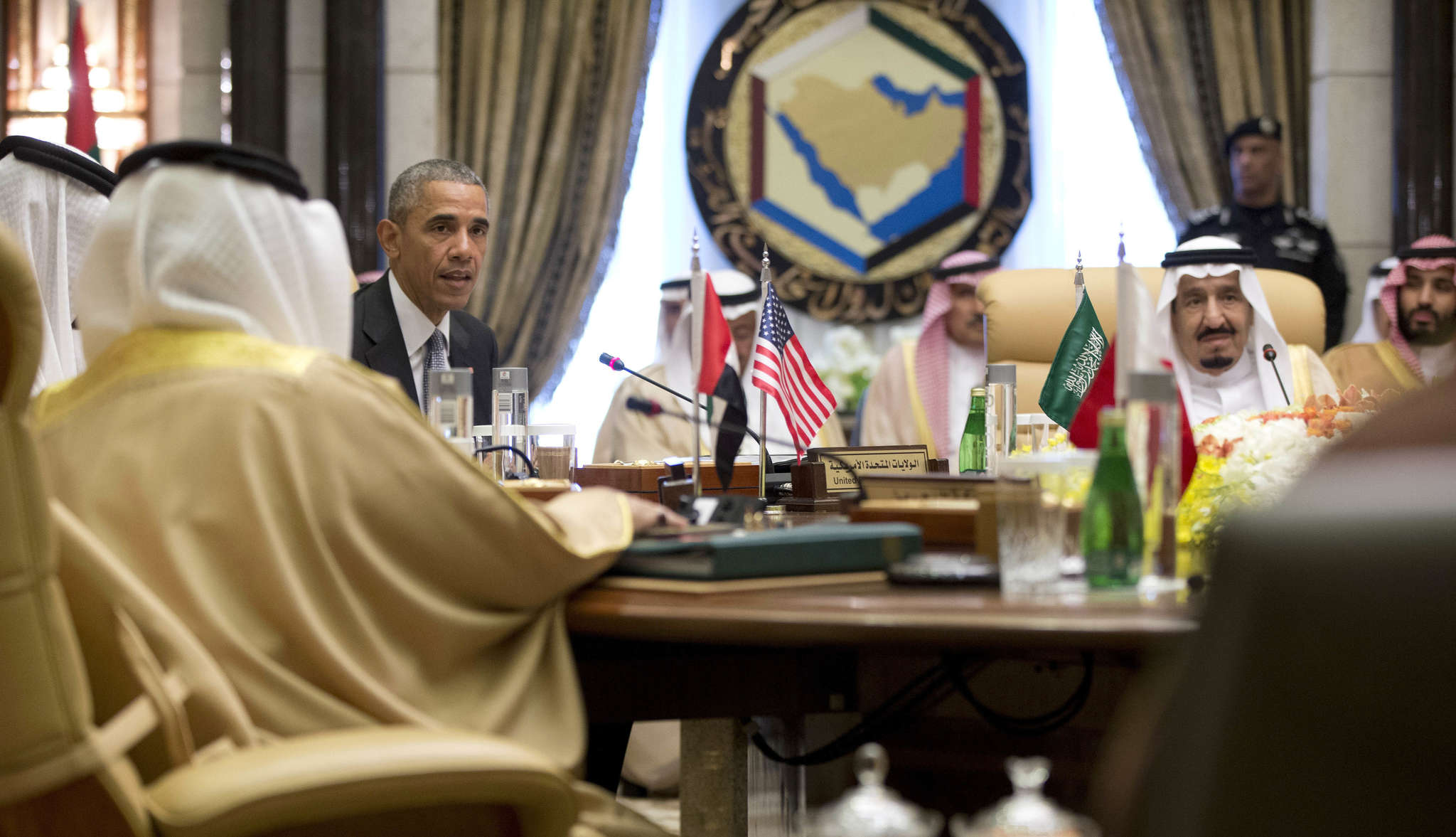 President Obama with Saudi Arabia´s King Salman (right). The Obama and Bush administrations have impeded litigation by U.S. plaintiffs as the Saudi kingdom complained that the suit alleging Saudi responsibility for the 9/11 attacks was damaging relations with the U.S.