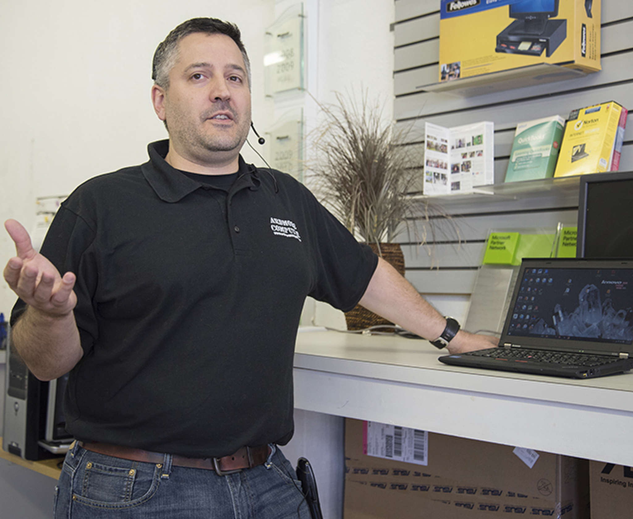 Rob Calarco of Ardmore Computer: He´s received several calls recently from ransomware victims. AARON RICKETTS / Staff Photographer