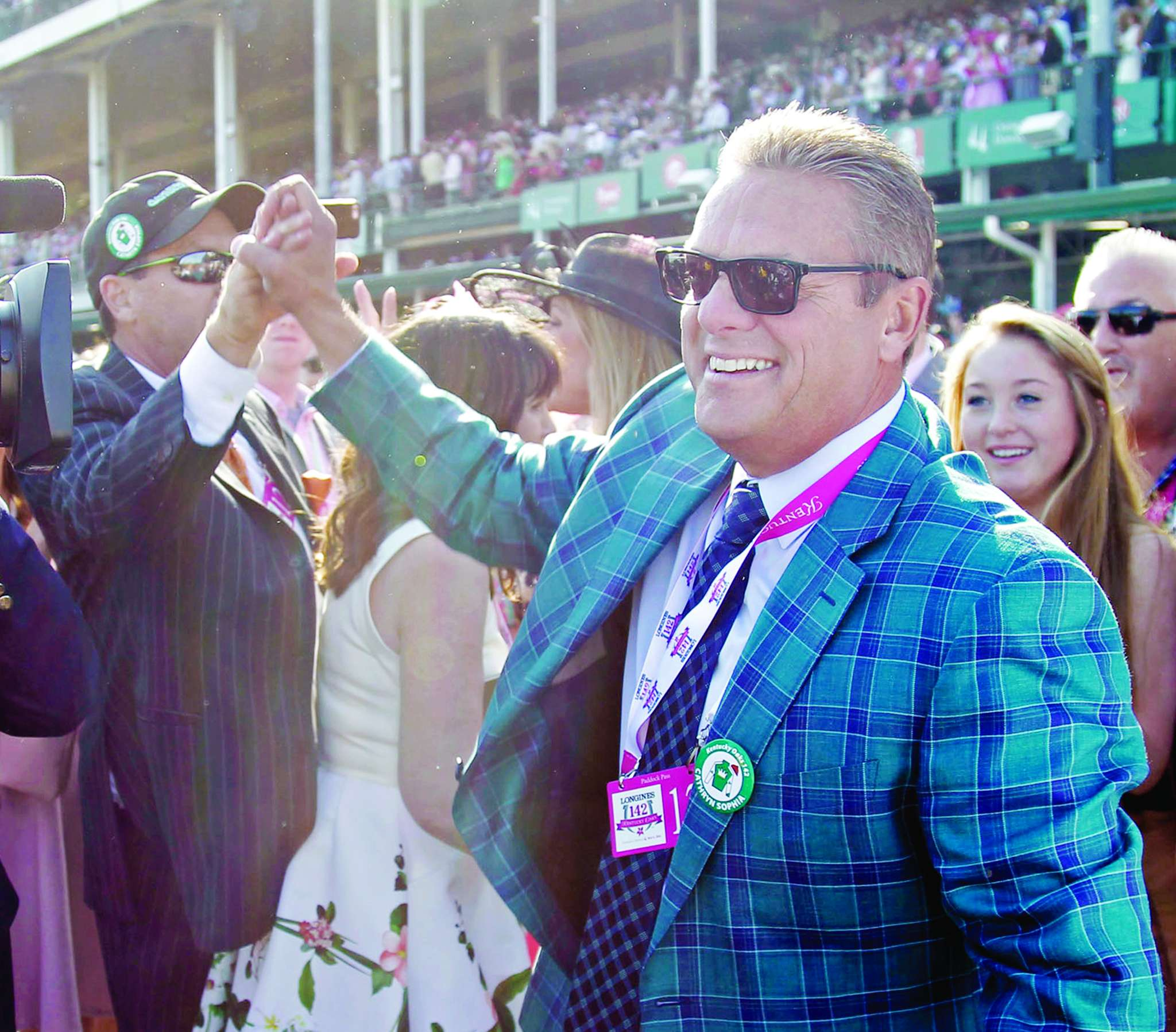 Trainer John Servis, under scrutiny after some of his horses tested positive for a drug banned for use during races, says he has nothing to hide. RON GARRISON / Lexington Herald-Leader