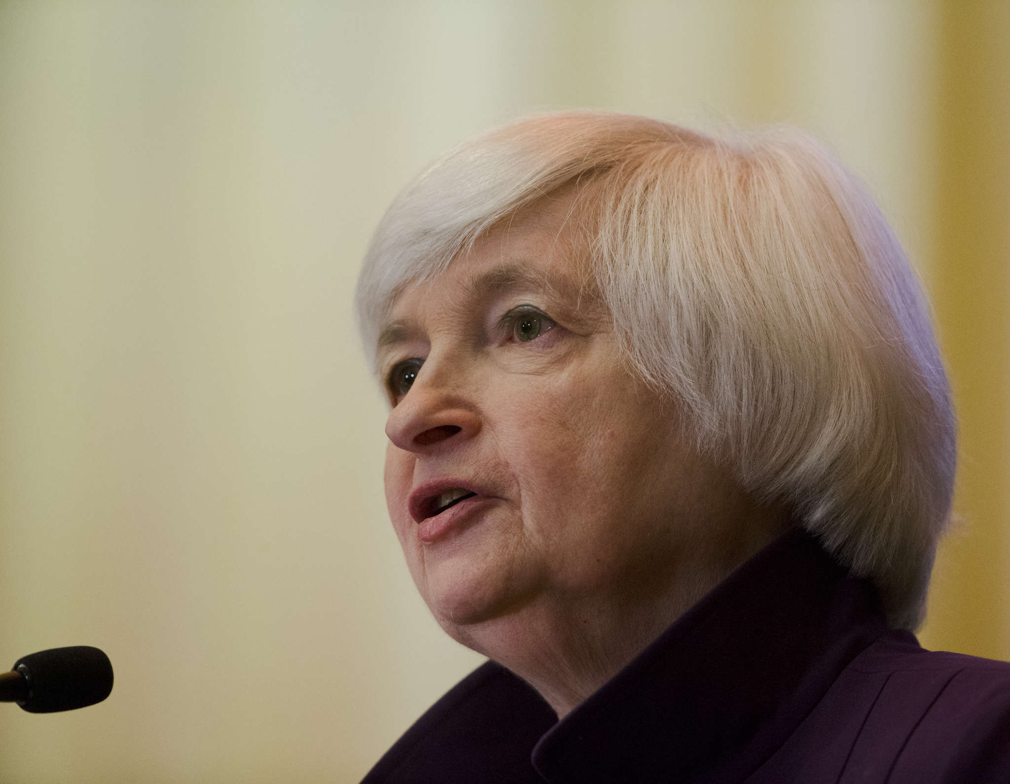 Janet Yellen said she didn´t want to lift interest rates too fast, or spook cautious business owners and investors.