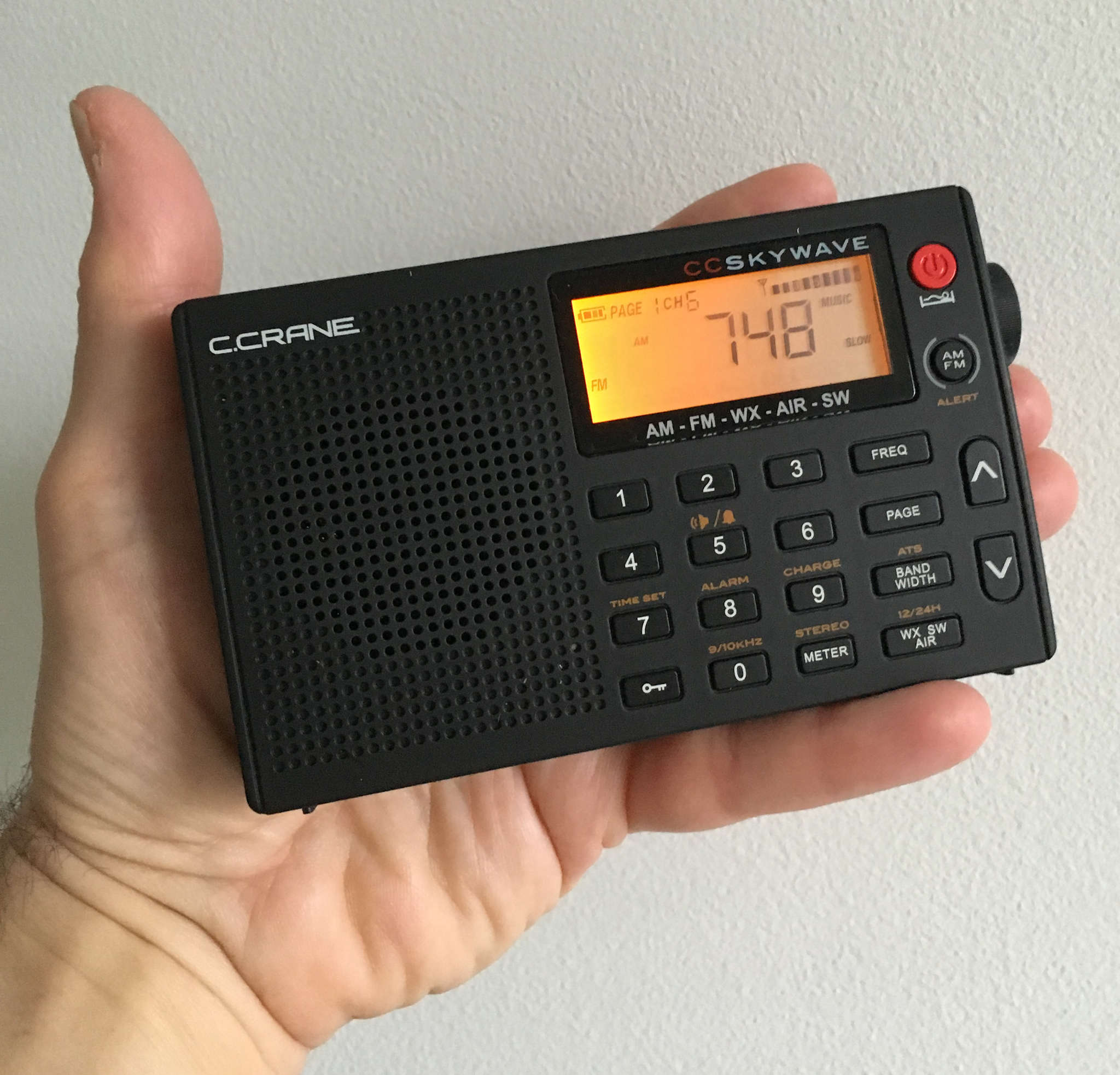 Take me out to the ball game: CC Skywave is sized like classic transistor radios but covers more bases ($89.99 at ccrane.com).