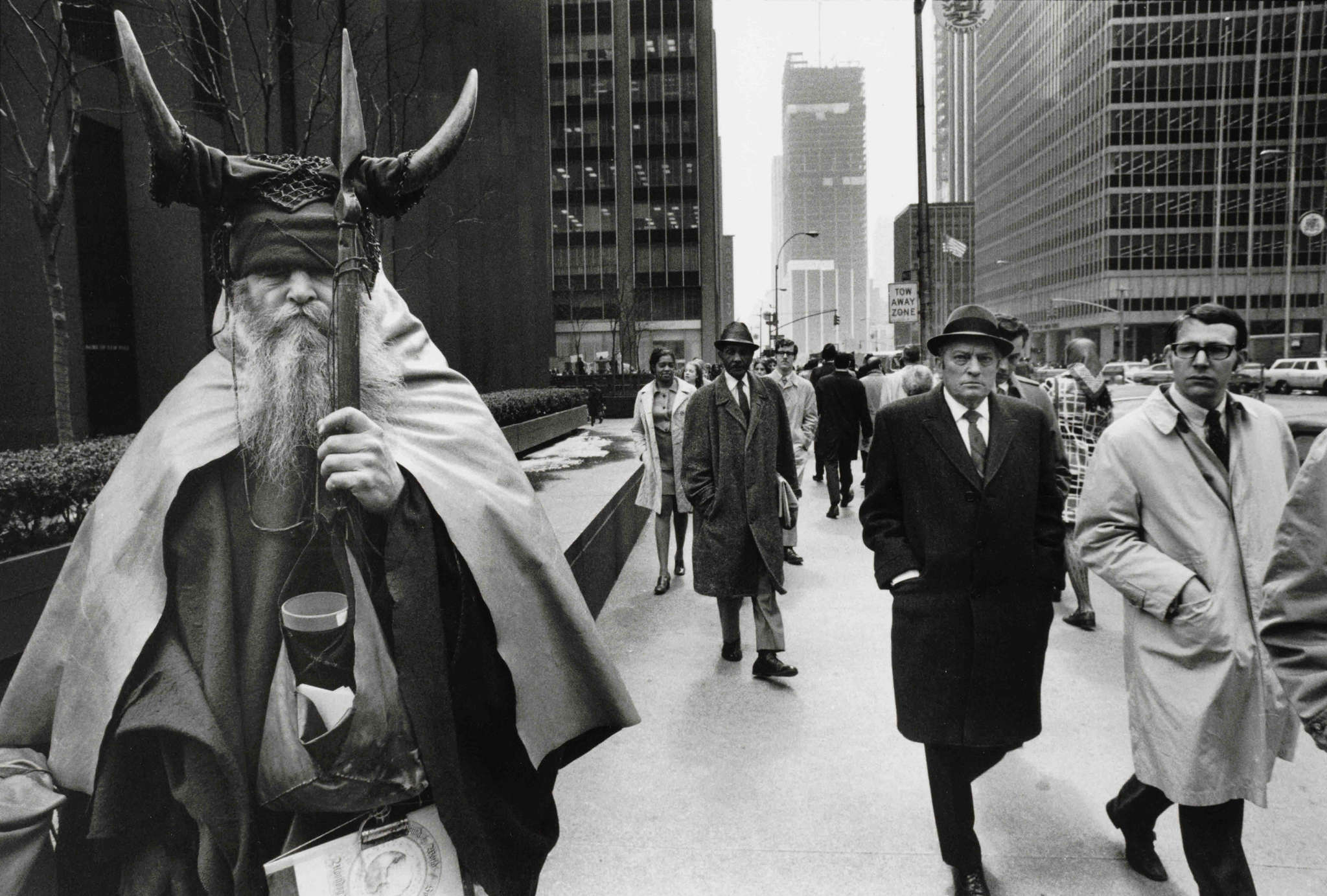 The New York street musician Moondog around 1970. Bowerbird will perform his works.