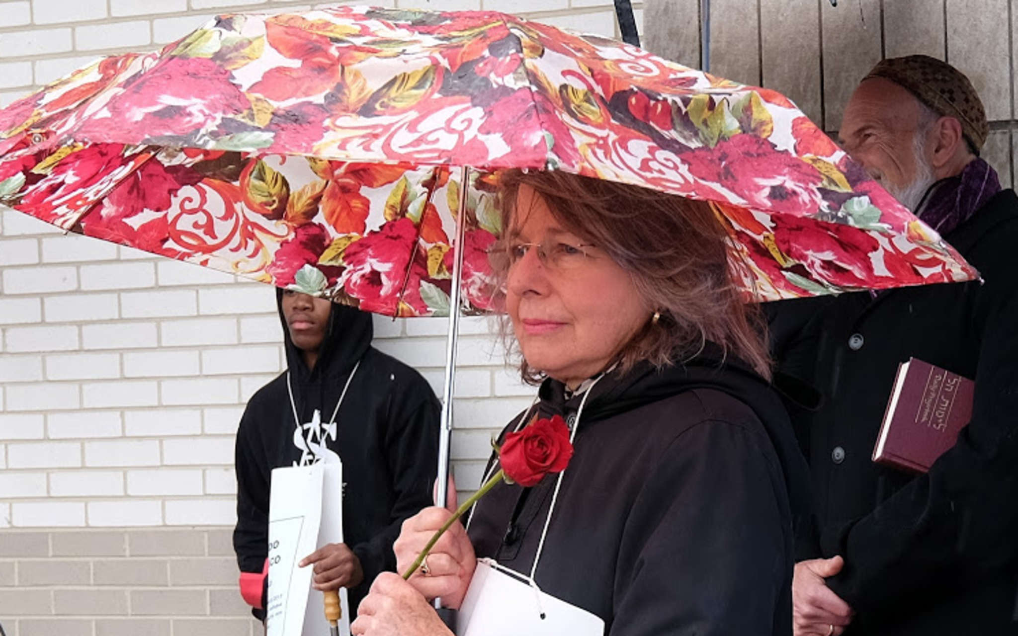 Kathy Black, shown at a worker memorial, will be honored Thursday evening by the Philadelphia chapter of the Coalition of Labor Union Women.