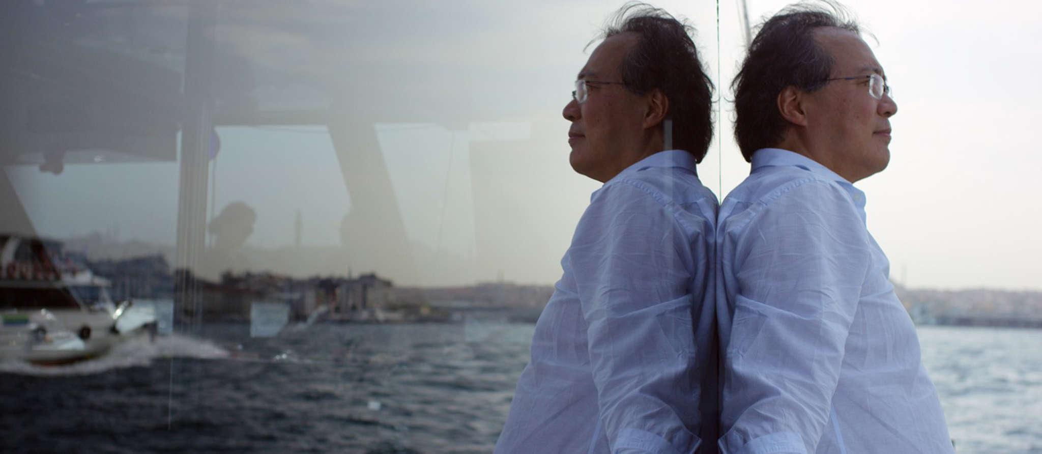 """Cellist Yo-Yo Ma in the documentary """"The Music of Strangers: Yo-Yo Ma and The Silk Road Ensemble."""""""