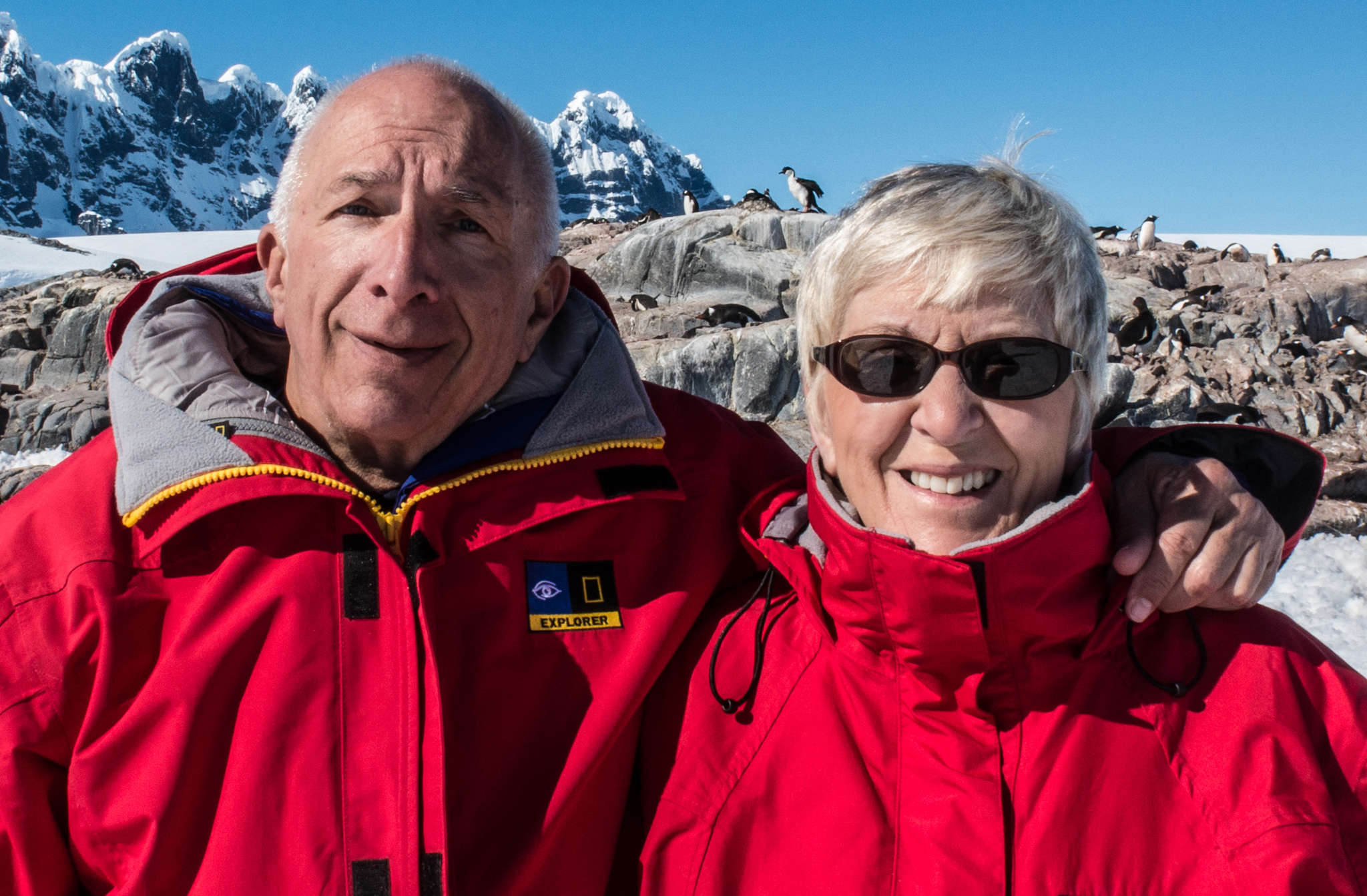 Raymond and Sandy Loewe have visited all seven continents, including Antarctica.