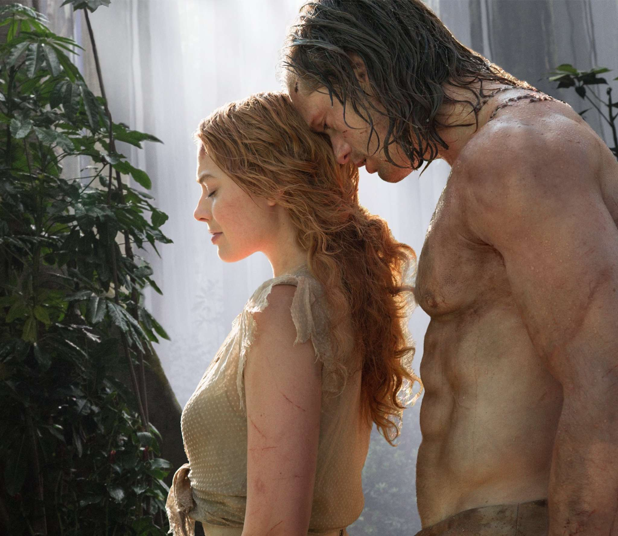 "Stuck in time: Margot Robbie as Jane and Alexander Skarsgård as Lord Greystoke in the not-updated-enough ""The Legend of Tarzan."""
