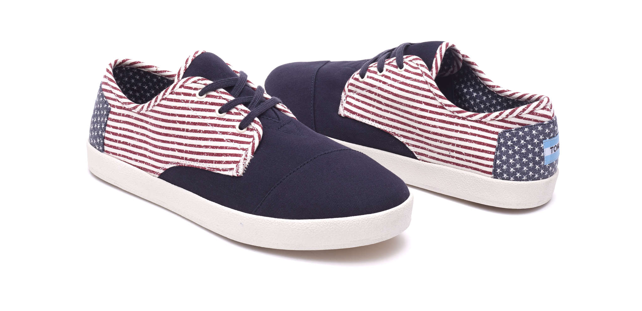 Americana Canvas Flag Men´s Paseo Sneakers, Tom´s, $59, at www.toms.com.
