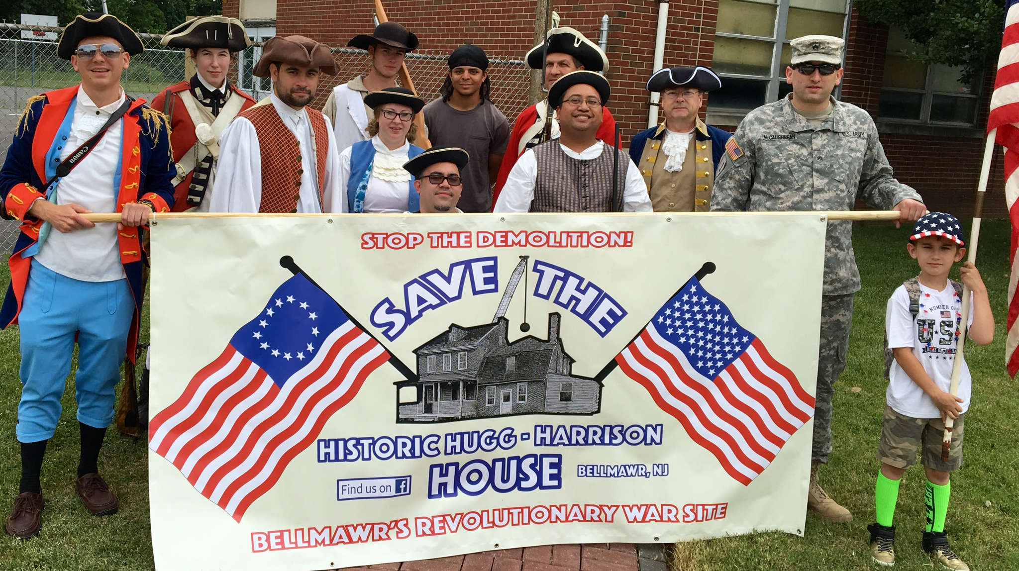 Supporters of saving the Hugg-Harrison House prepare to march in Bellmawr´s July Fourth parade.