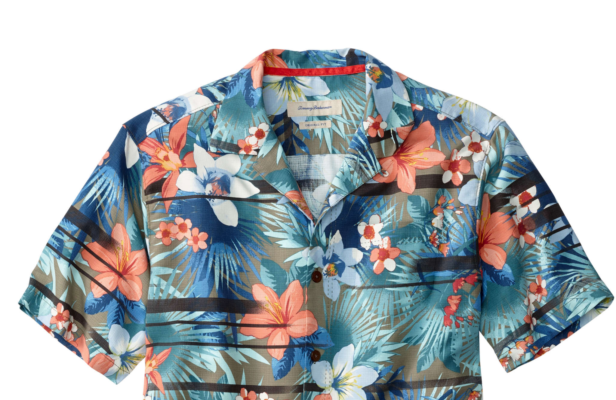 Jungle Horizon Camp Shirt, $128. All courtesy of Tommy Bahama, at the Plaza in King at Prussia.