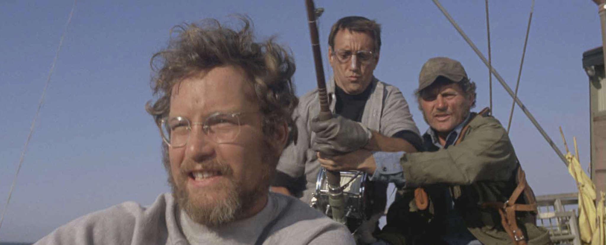 """Jaws"" stars (from left) Richard Dreyfuss , Roy Scheider, and Robert Shaw."