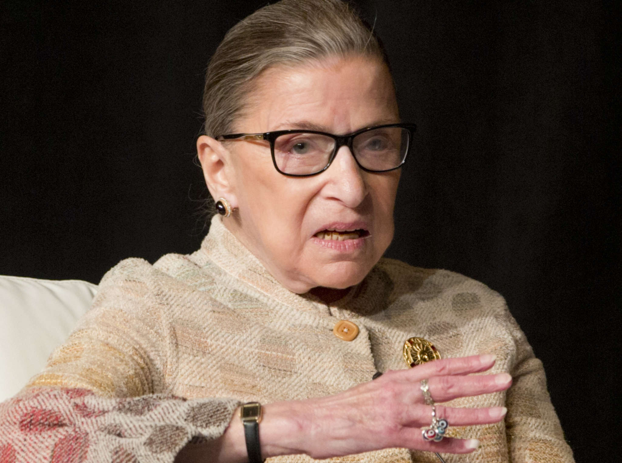Ruth Bader Ginsburg said she regretted making disparaging remarks about Donald Trump.