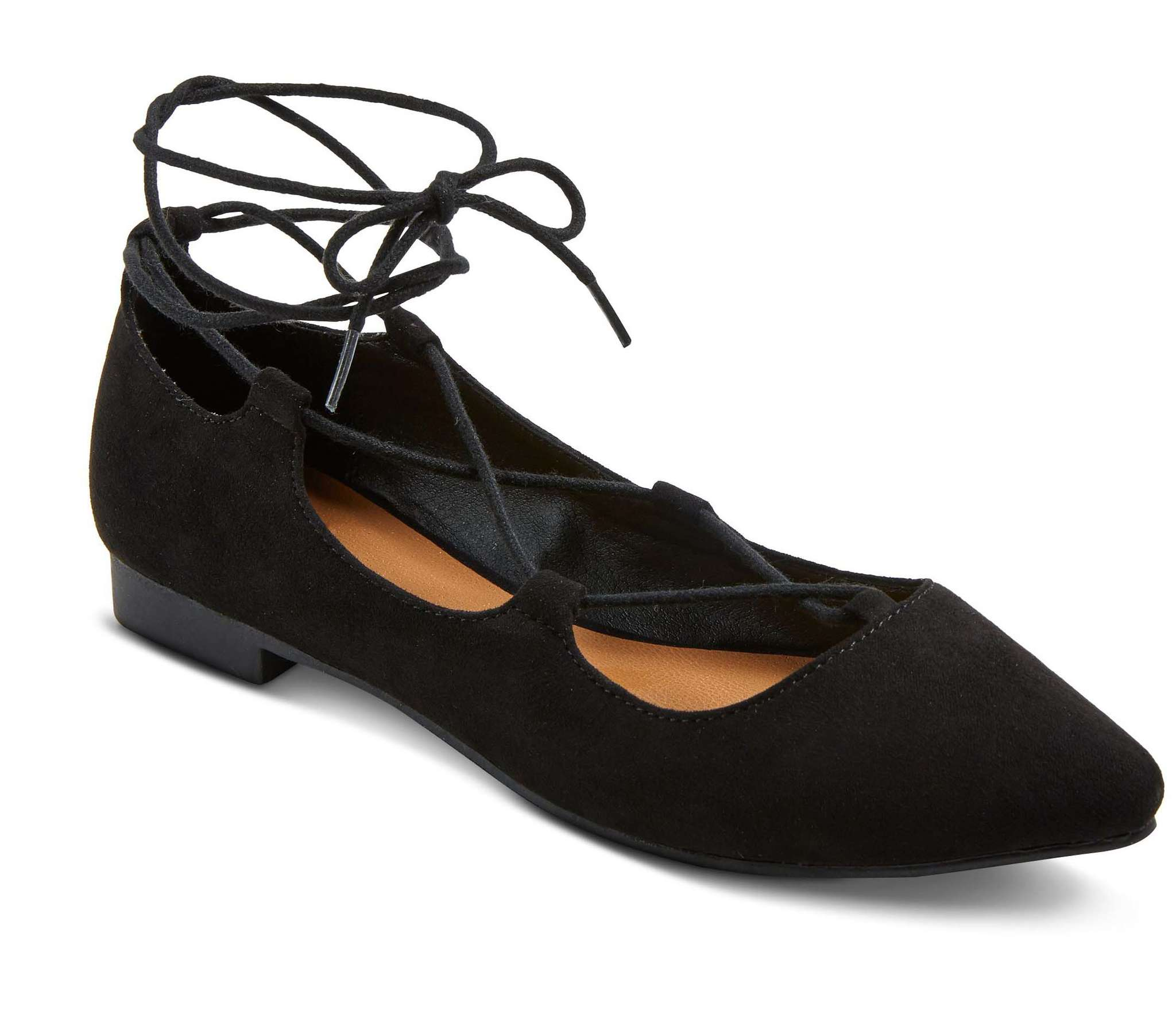 Kady pointy-toe lace-up ballet flats, Mossimo Supply Co., $24.99 at Target.