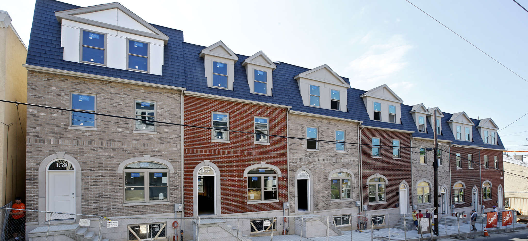Six of the townhouses the group has built on the old St Lucy´s parking lot are on Green Lane, near St. Davids Street.