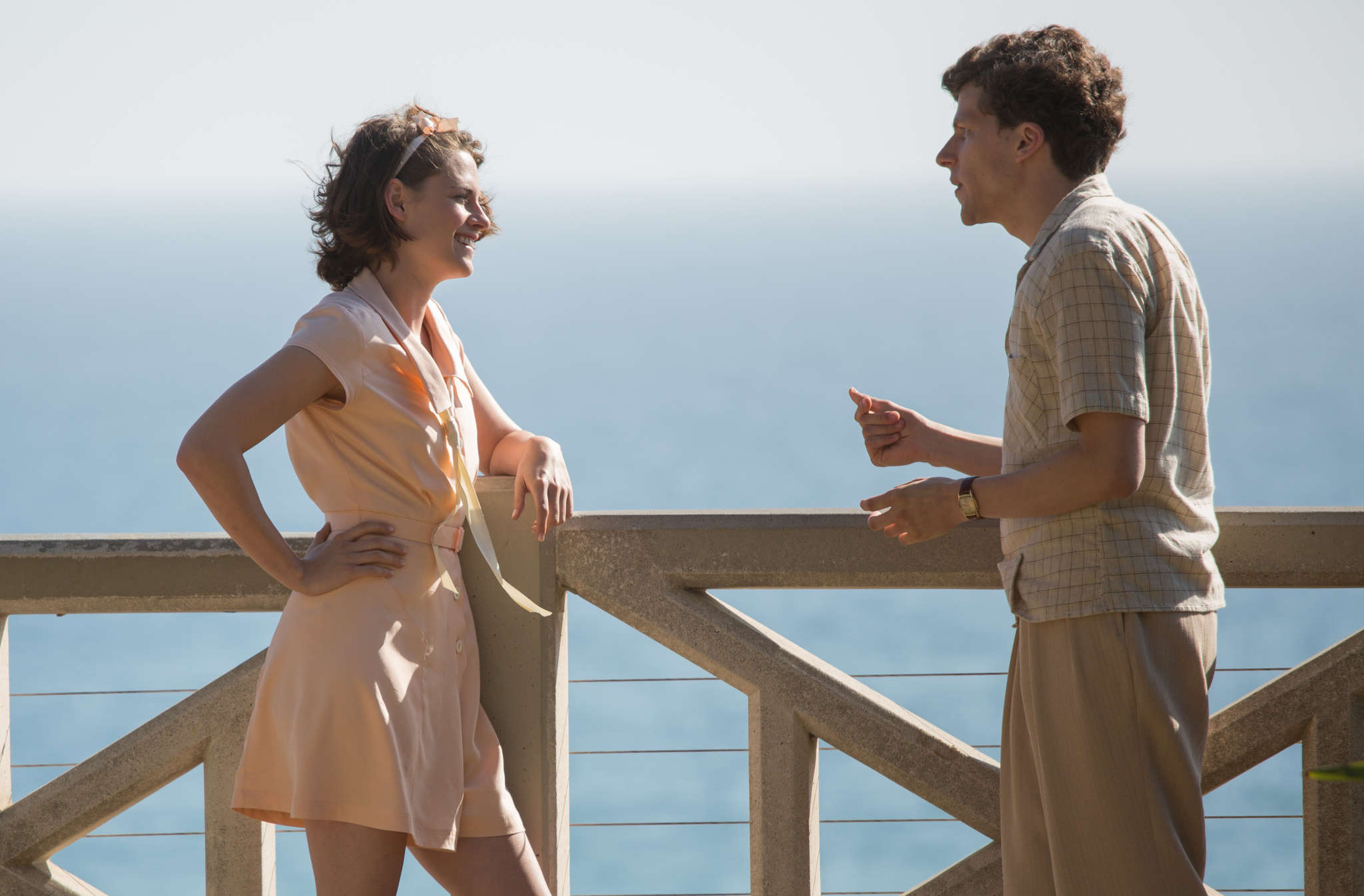 "Kristen Stewart and Jesse Eisenberg star as love interests in Woody Allen´s ""Café Society,"" set in glamorous Hollywood of the 1930s."