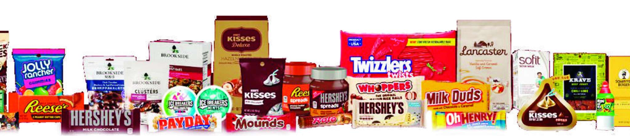 Selection of Hershey food products.