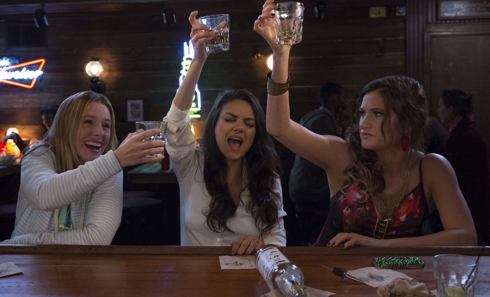 "Kristen Bell , Mila Kunis, and Kathryn Hahn are stressed-out parents in ""Bad Moms."" STX Productions L.L.C."