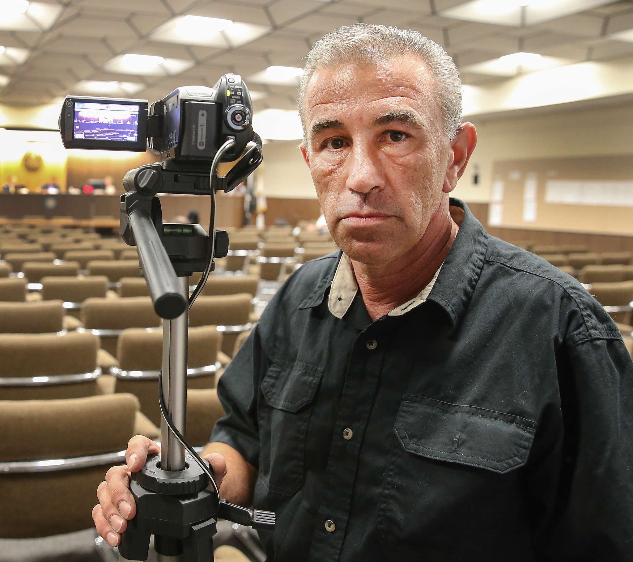 Ray Polidoro , the Republican chairman in Gloucester Township, got so frustrated with the township council meetings not being shown on TV that he set up his own YouTube channel. STEVEN M. FALK / Staff Photographer